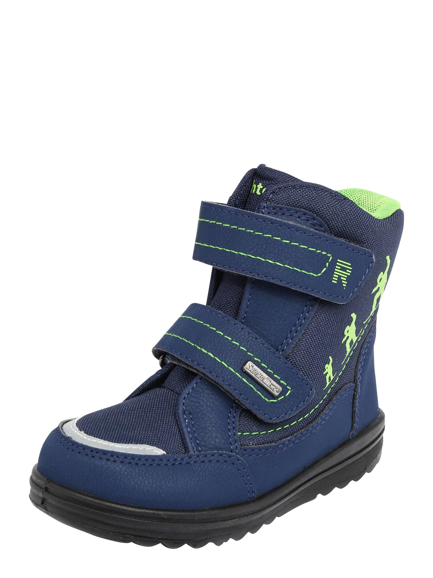RICHTER Sniego batai tamsiai mėlyna / šviesiai pilka / kivių spalva
