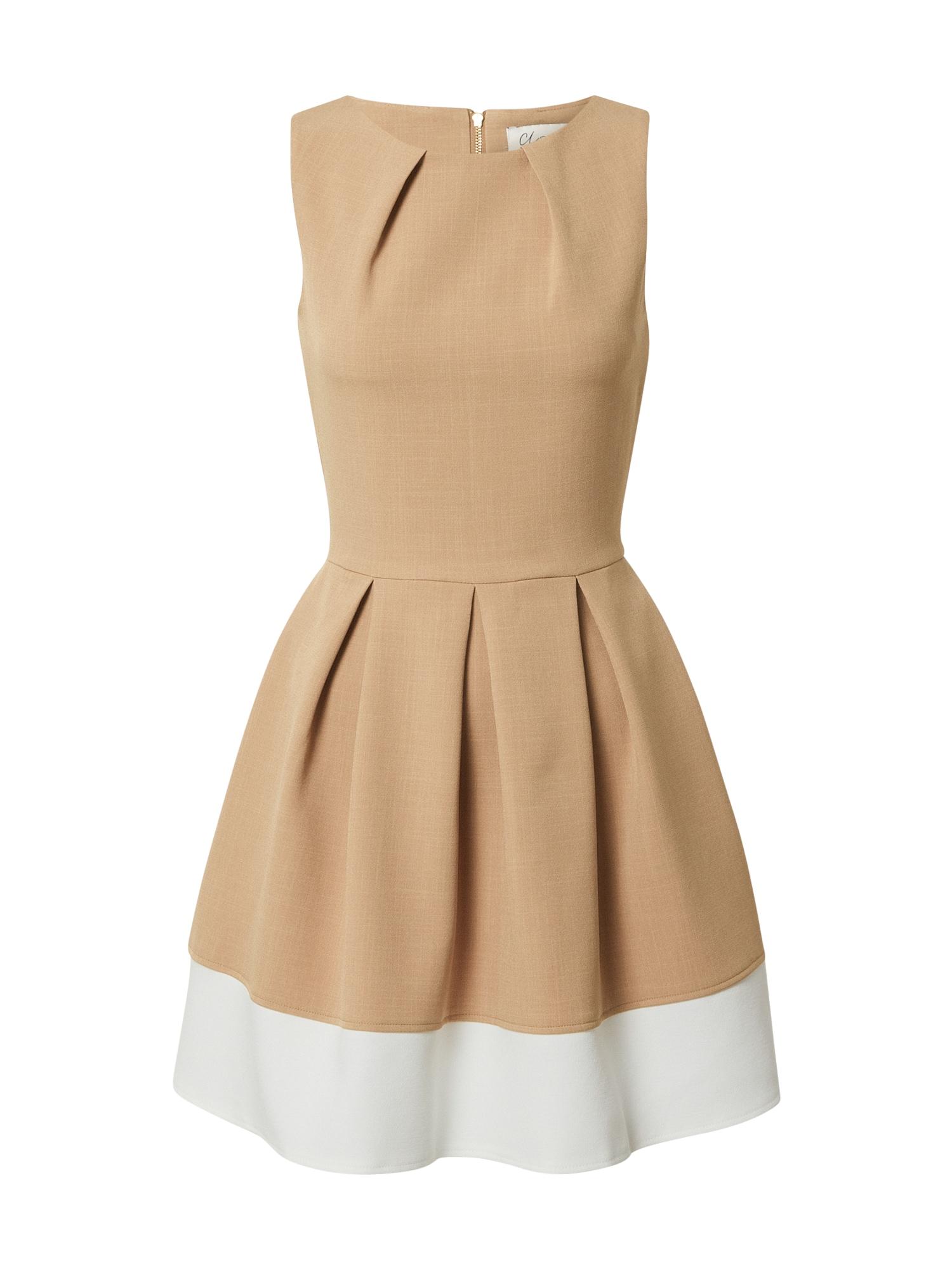 Closet London Suknelė smėlio / balta