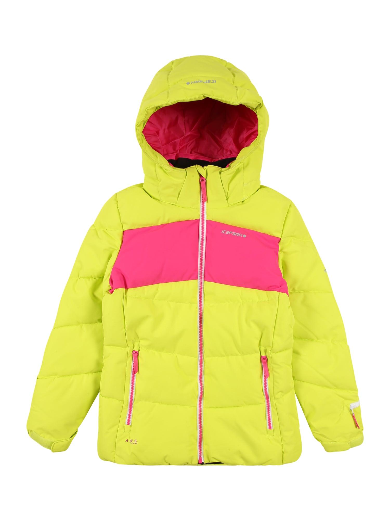 ICEPEAK Laisvalaikio striukė rožinė / geltona