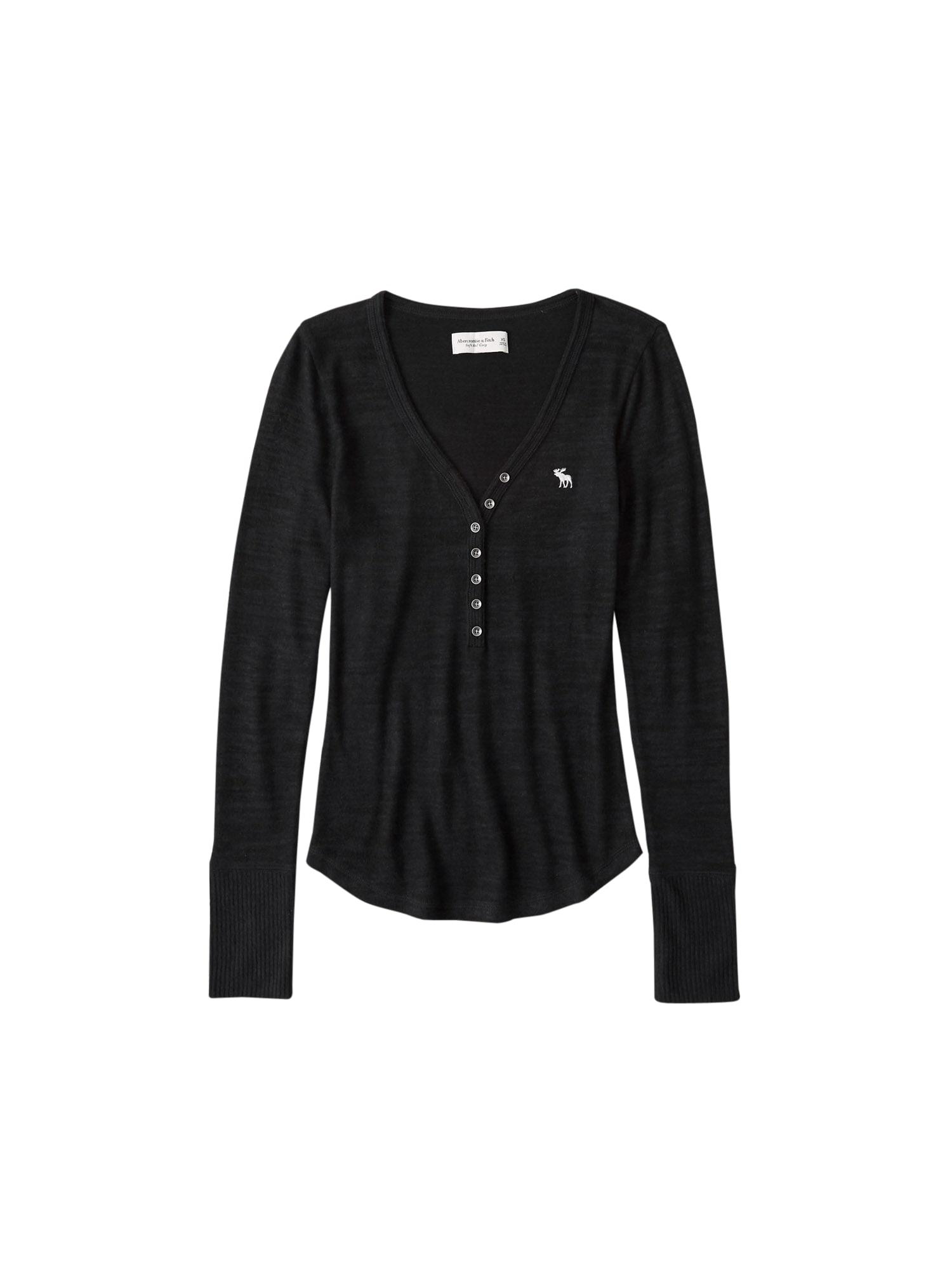 Abercrombie & Fitch Tričko  černá