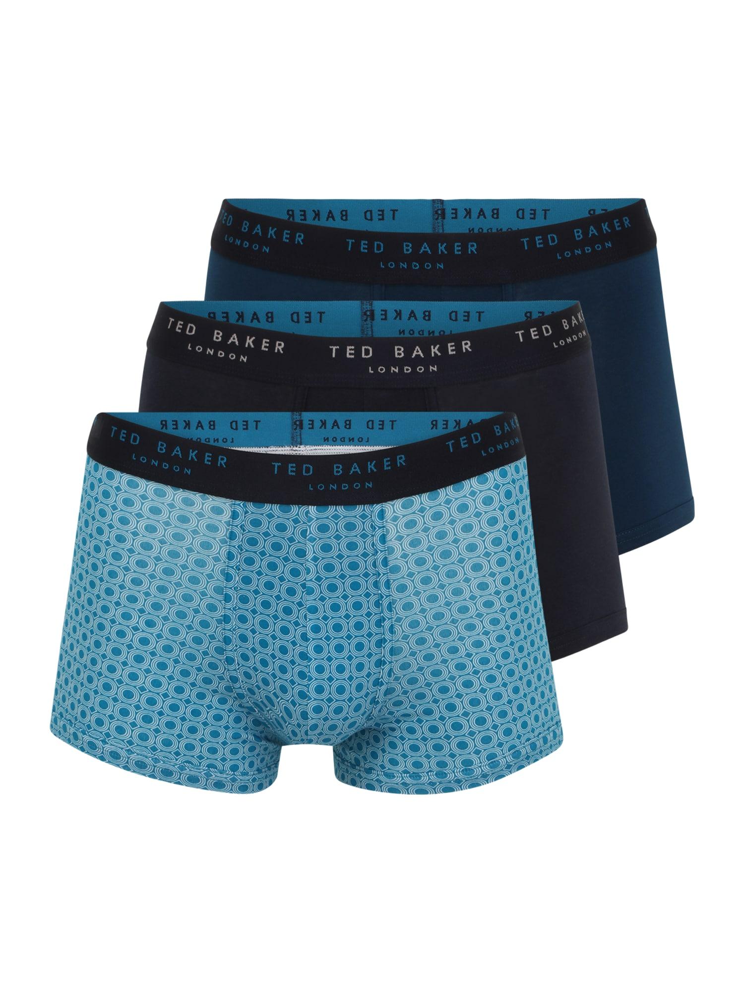 Ted Baker Boxer trumpikės mėlyna / juoda / tamsiai mėlyna