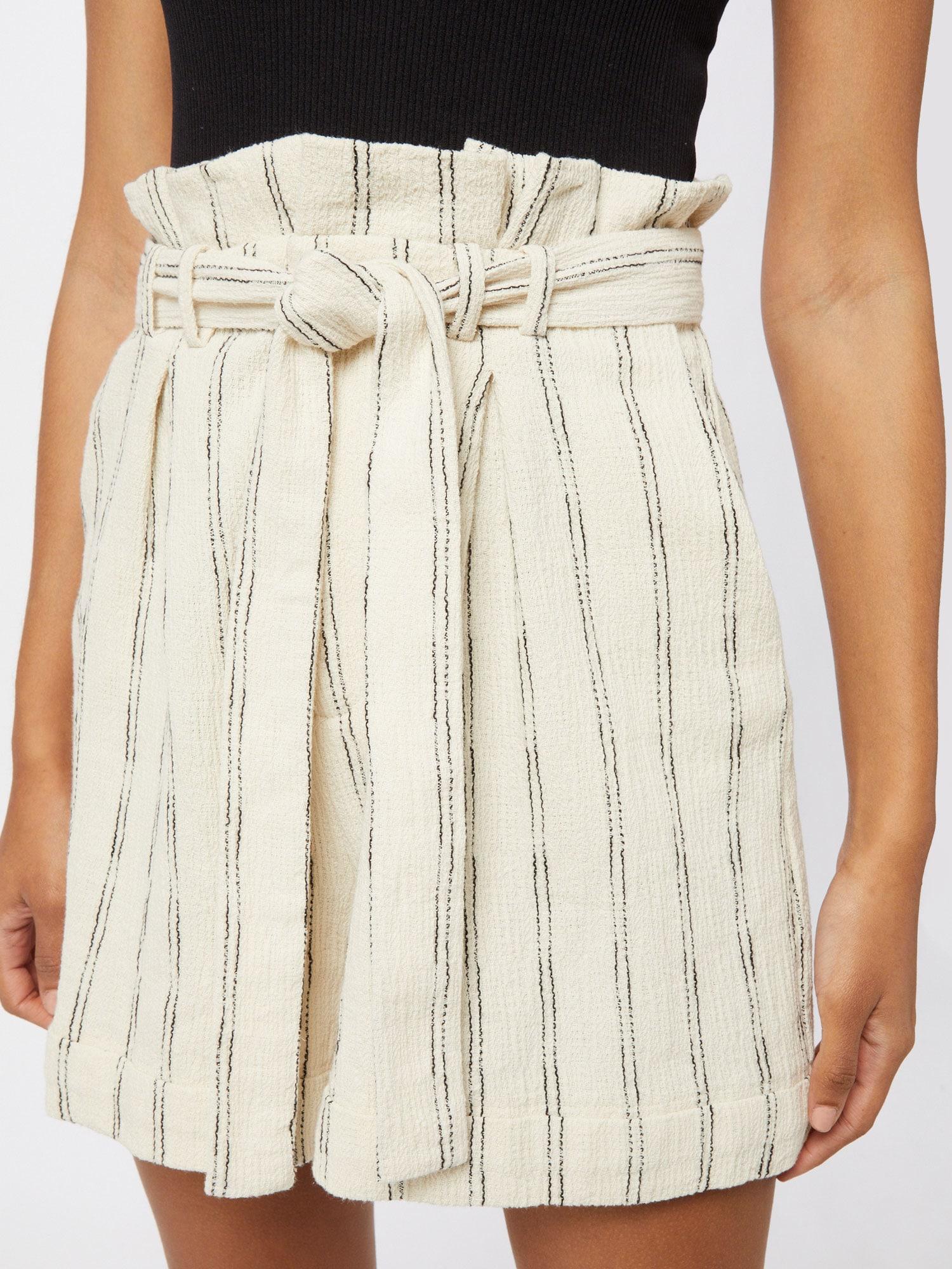 Bardot Plisované nohavice  biela / sivá.