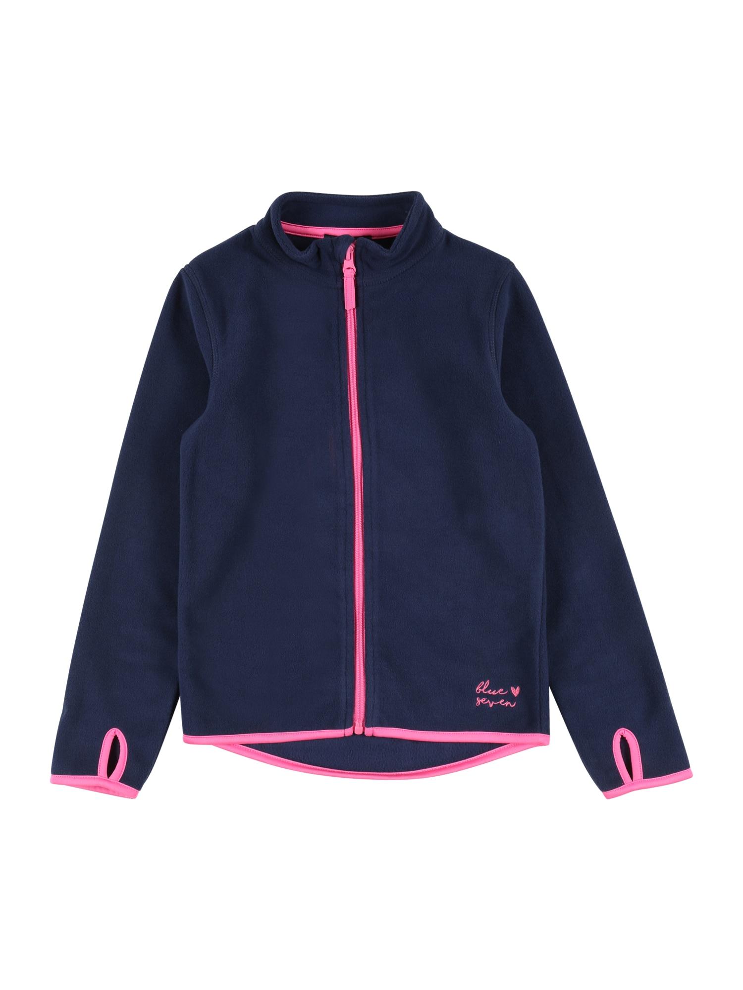 BLUE SEVEN Flisinis džemperis rožinė / tamsiai mėlyna