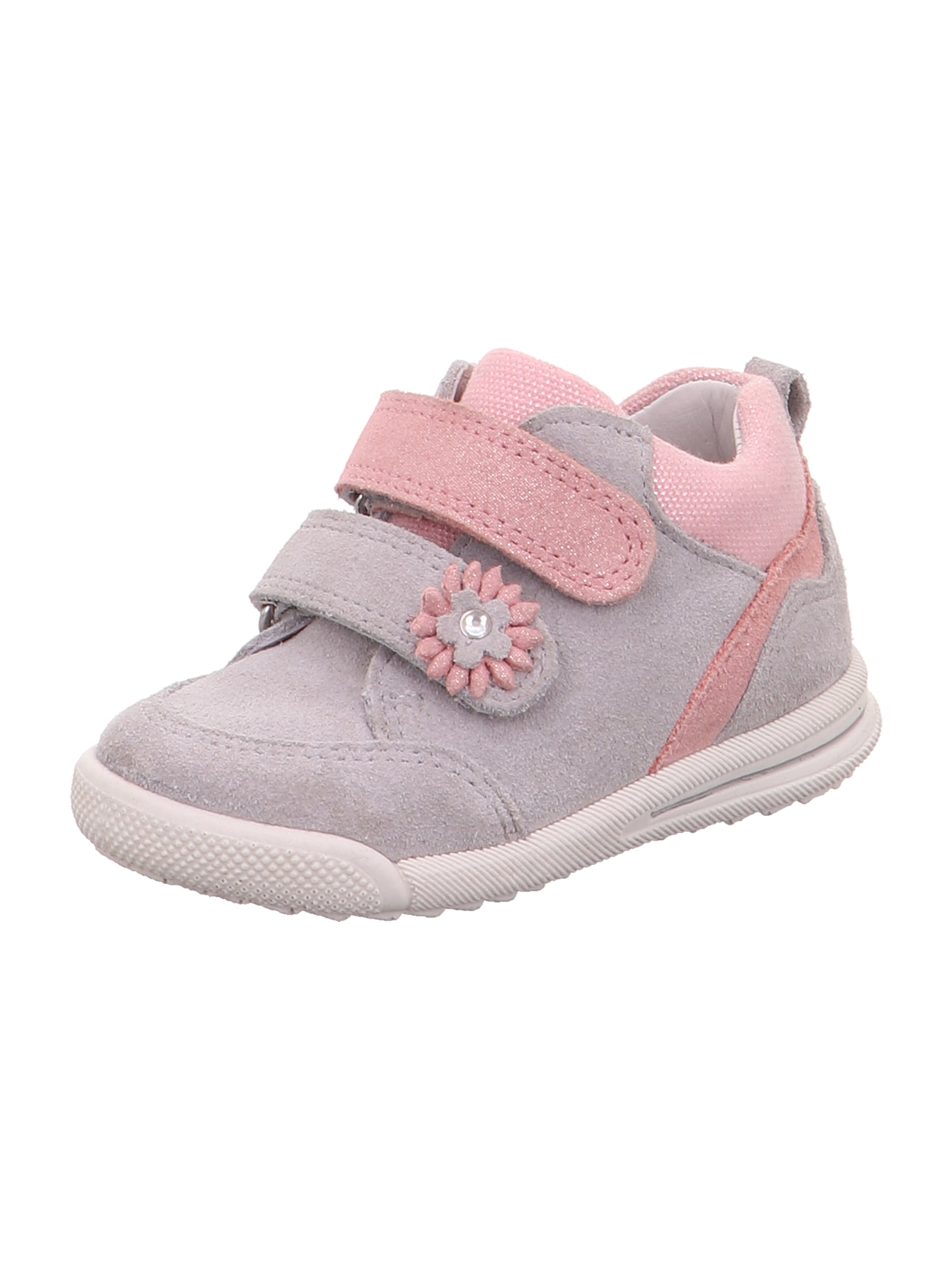 SUPERFIT Pirmieji vaiko vaikščiojimo bateliai 'Avrile' šviesiai pilka / rožių spalva