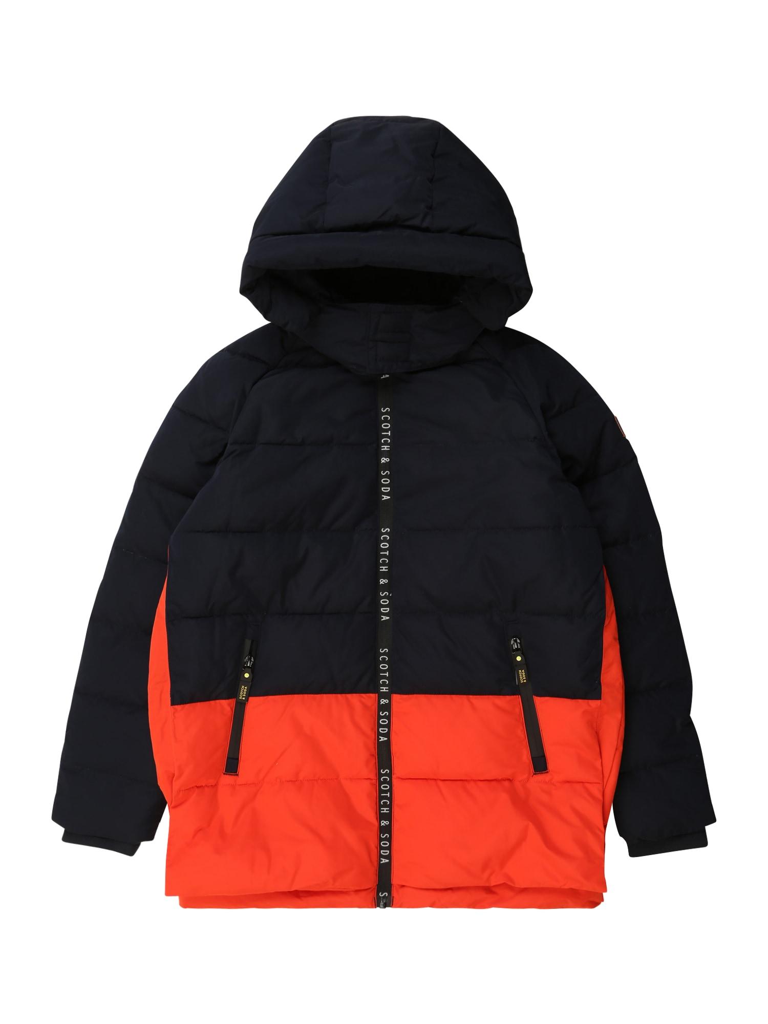 Scotch Shrunk Zimní bunda  červená / námořnická modř
