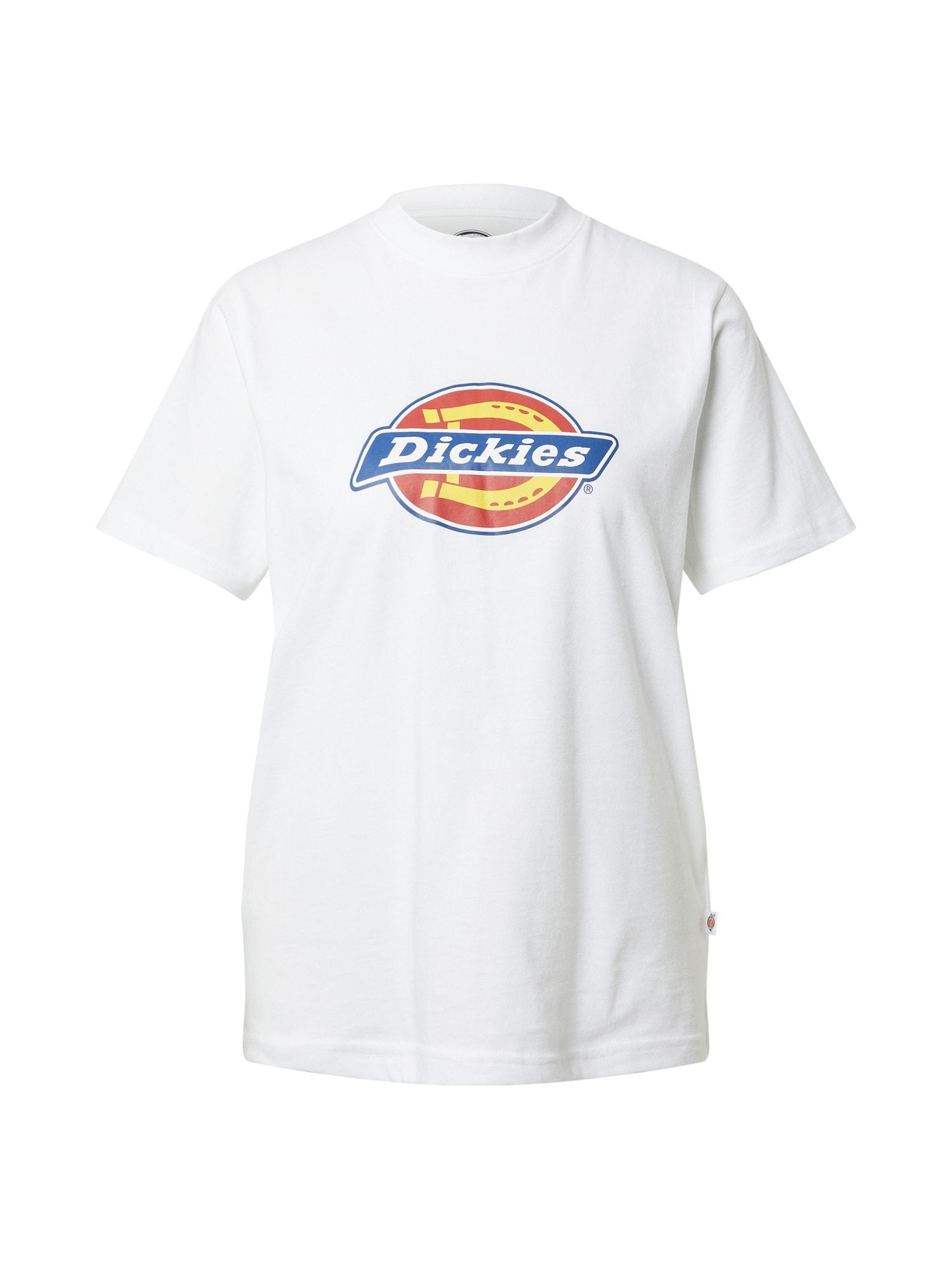 DICKIES Marškinėliai balta / mėlyna / raudona / geltona