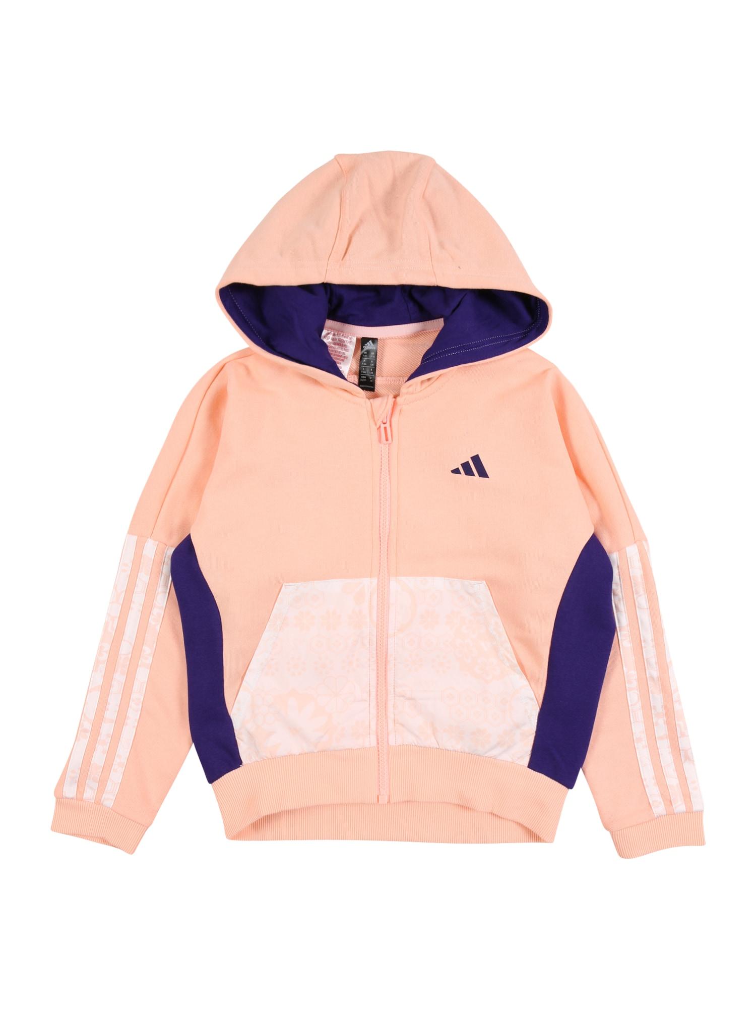 ADIDAS PERFORMANCE Sportovní mikina  pink / bílá / bledě fialová