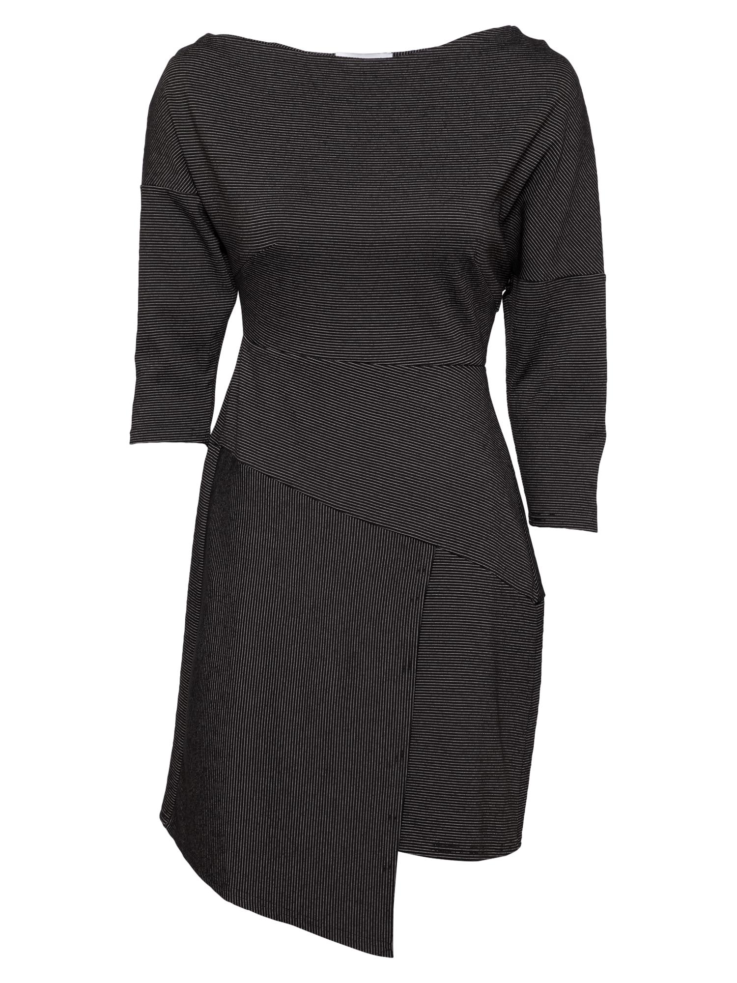 Closet London Suknelė juoda / margai pilka