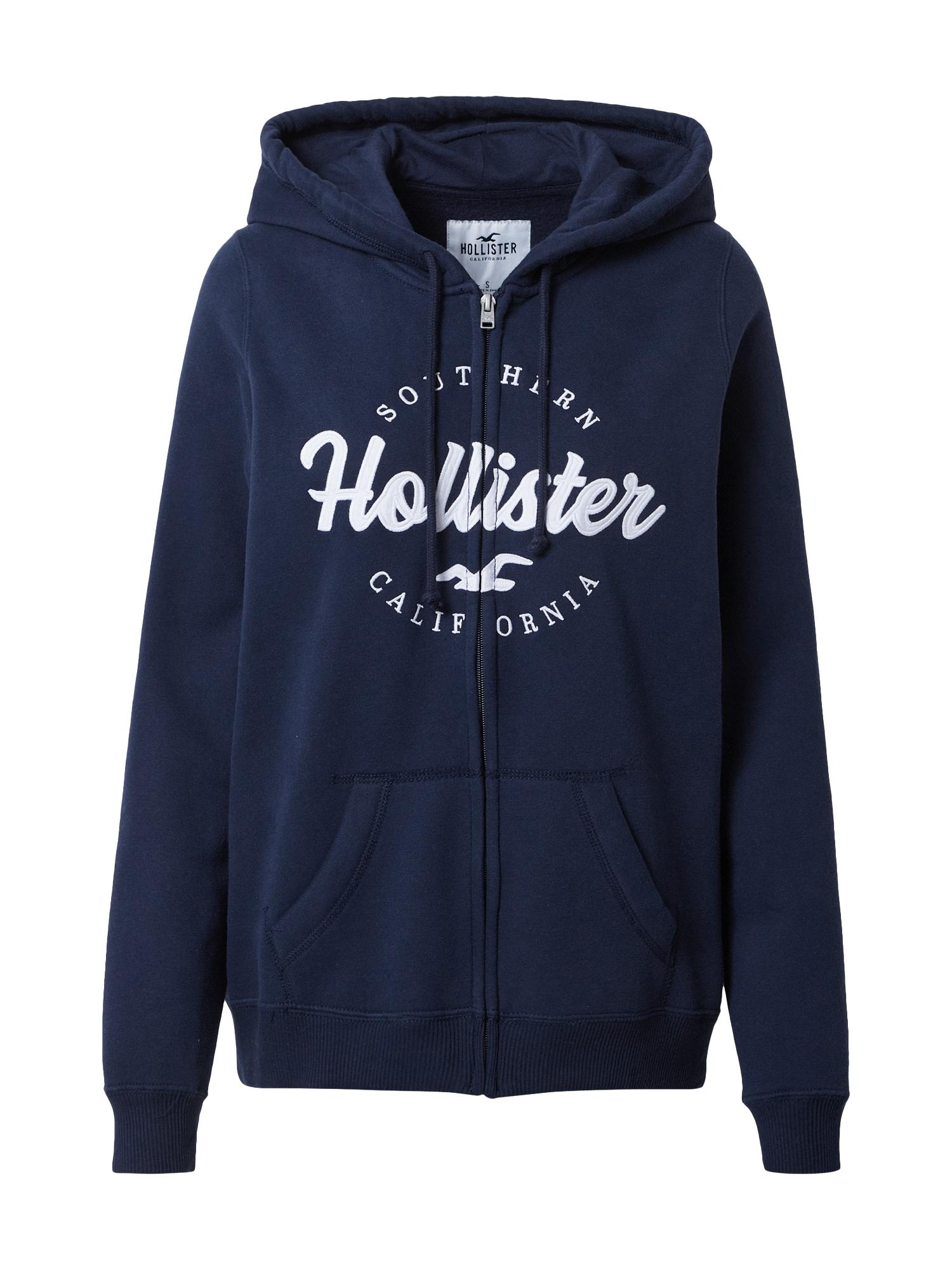 HOLLISTER Džemperis tamsiai mėlyna / balta