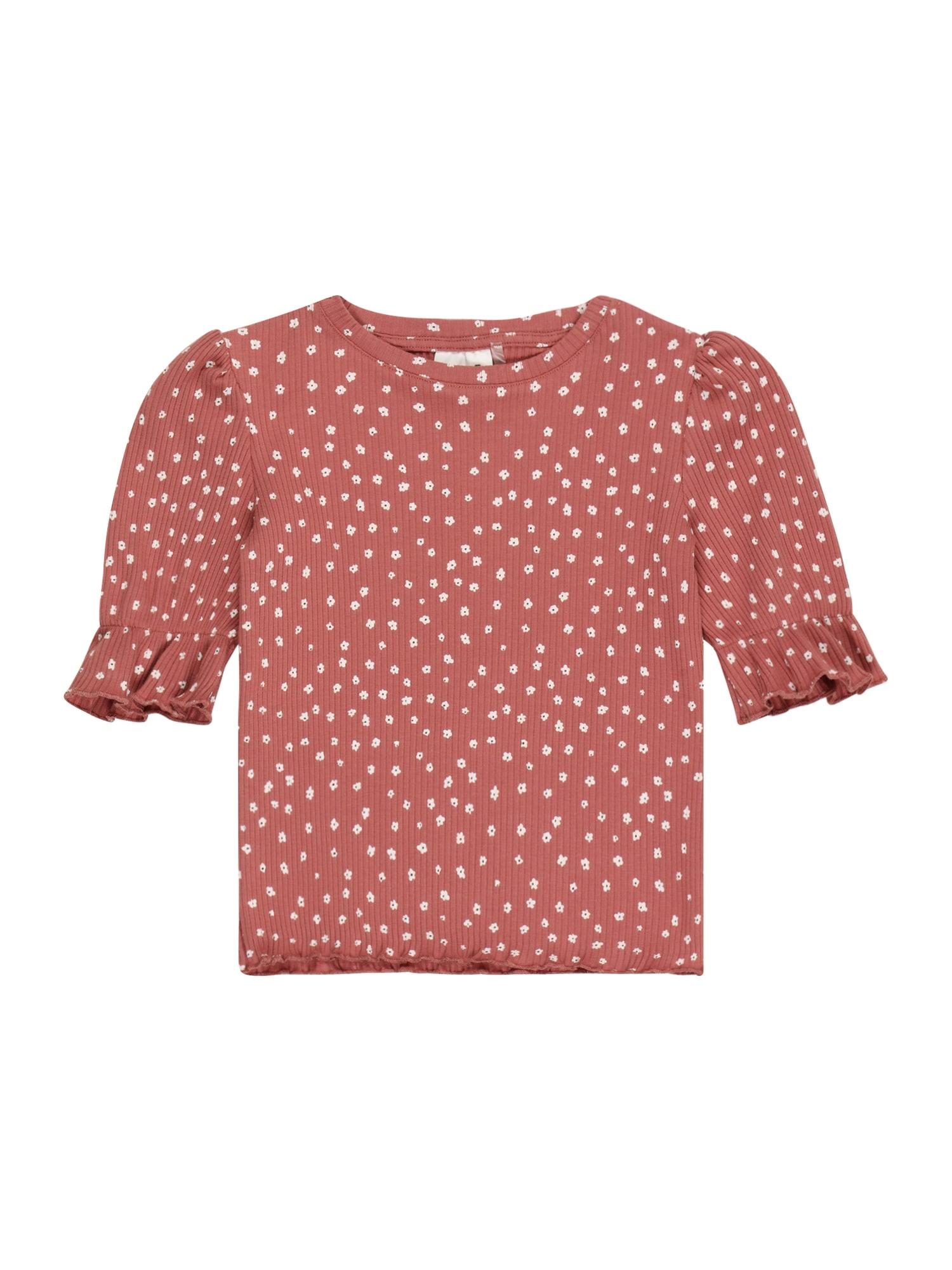 Cotton On Marškinėliai 'LYLA' balta / rūdžių raudona