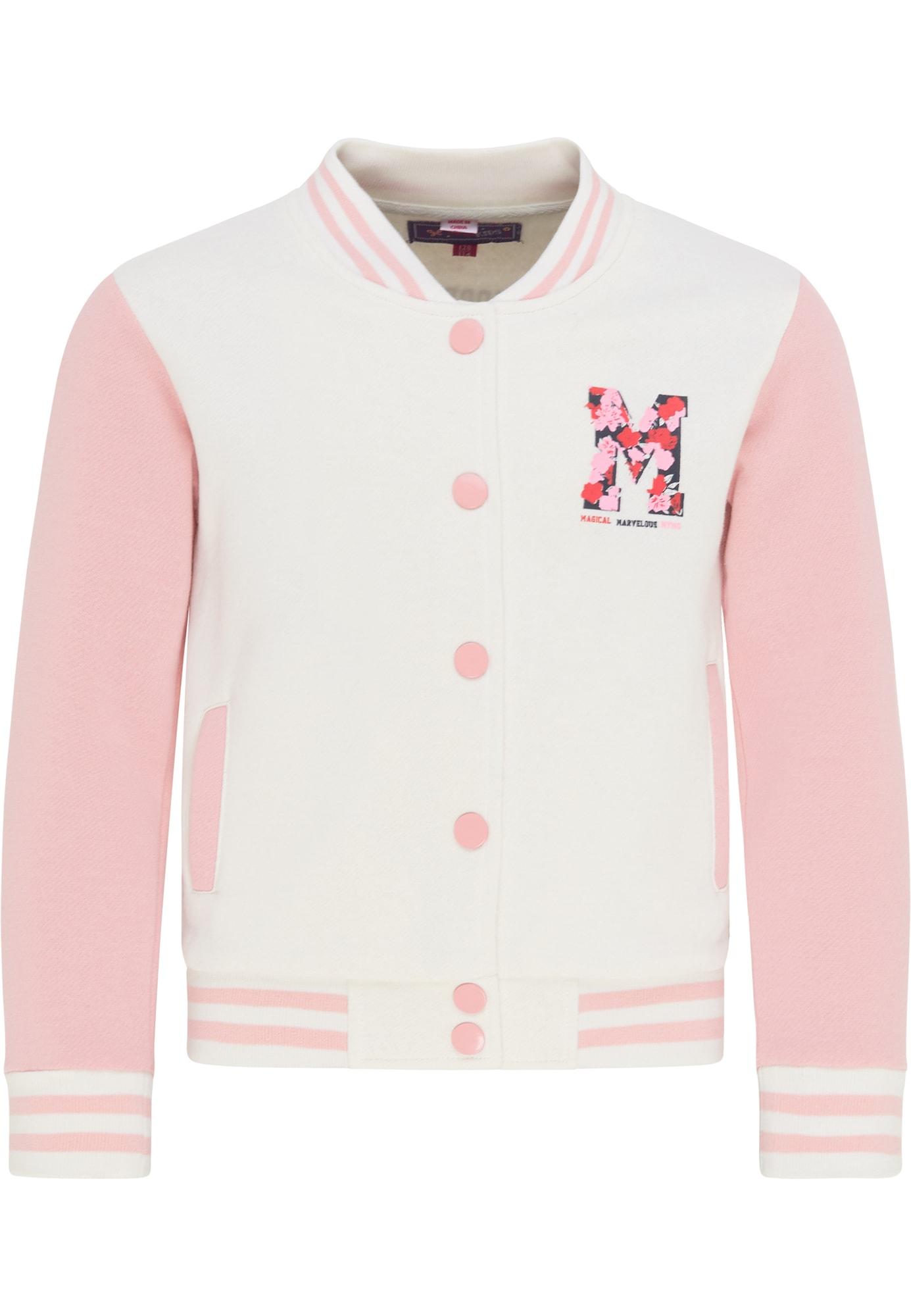 myMo KIDS Džemperis natūrali balta / rožių spalva / juoda / šviesiai raudona
