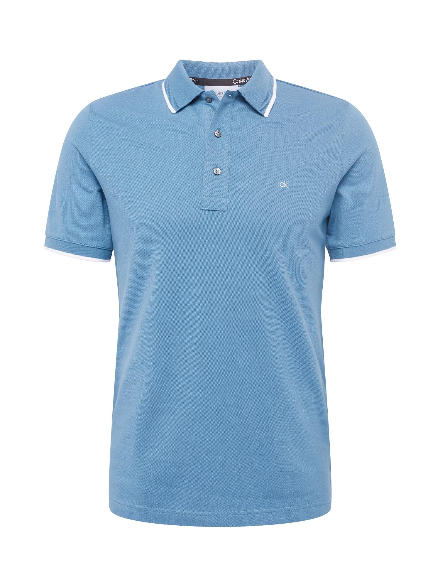 Calvin Klein Marškinėliai šviesiai mėlyna / balta