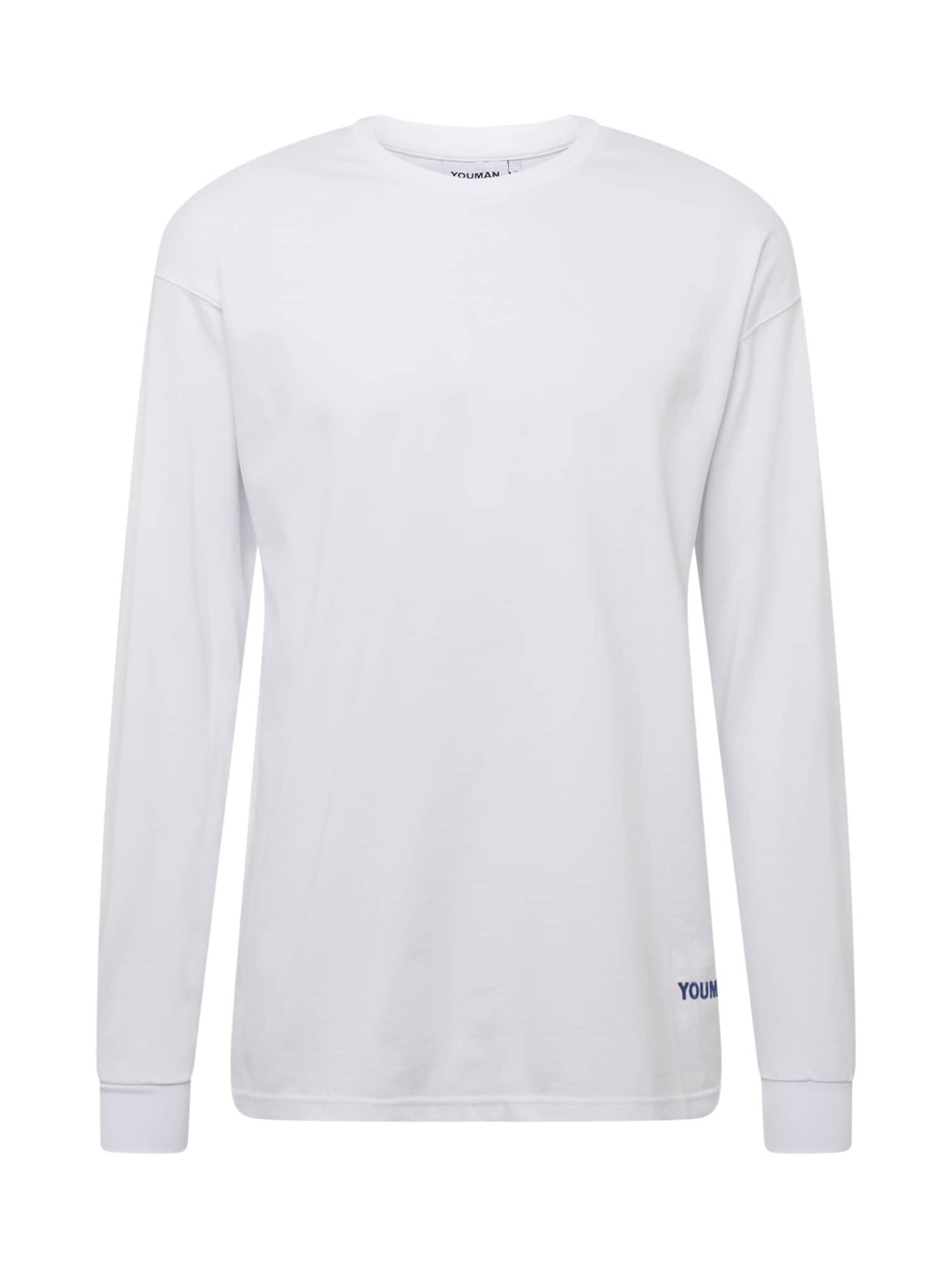 Youman Marškinėliai balta / tamsiai mėlyna