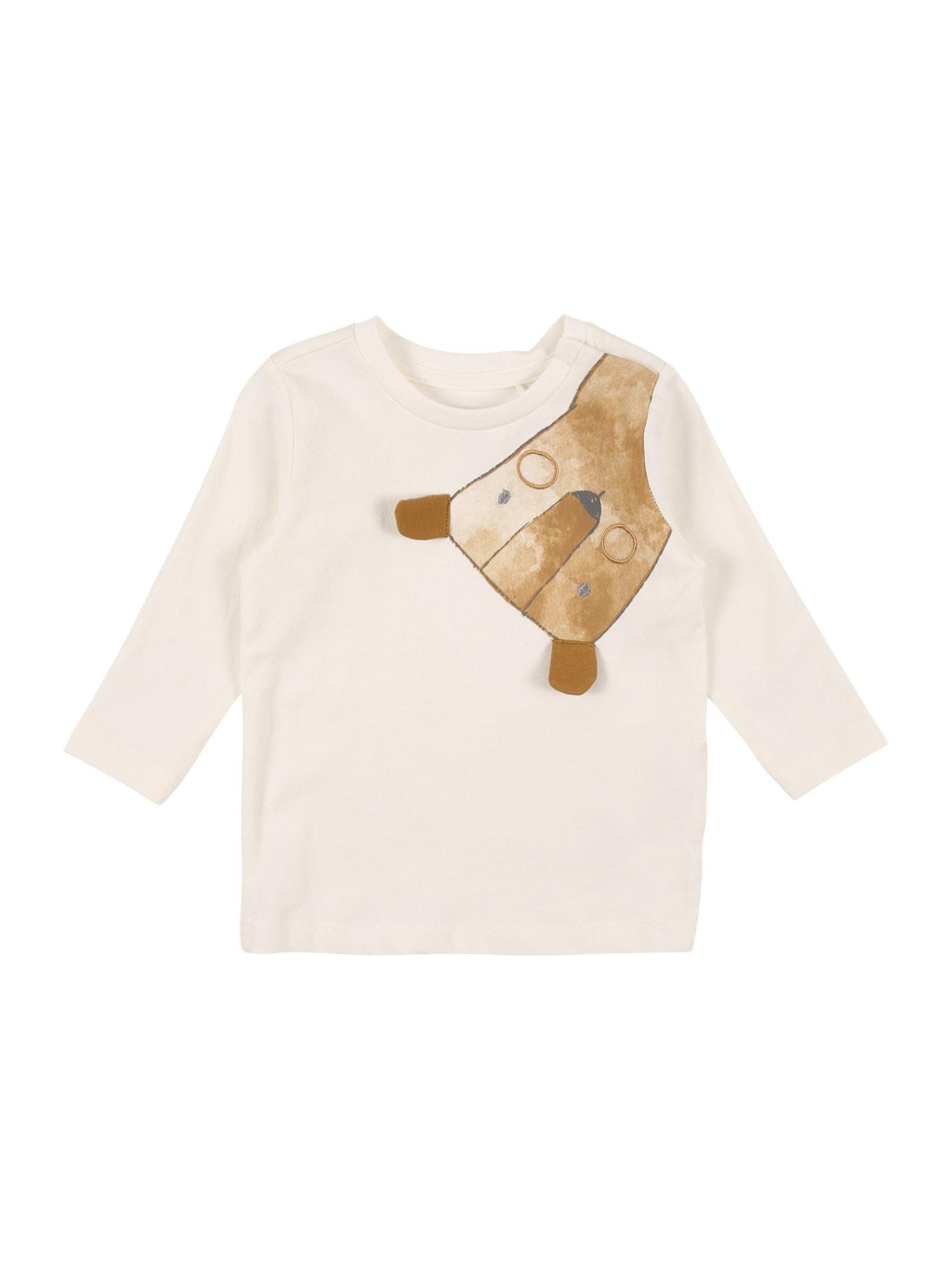 NAME IT Marškinėliai 'UTRA' balta / ruda