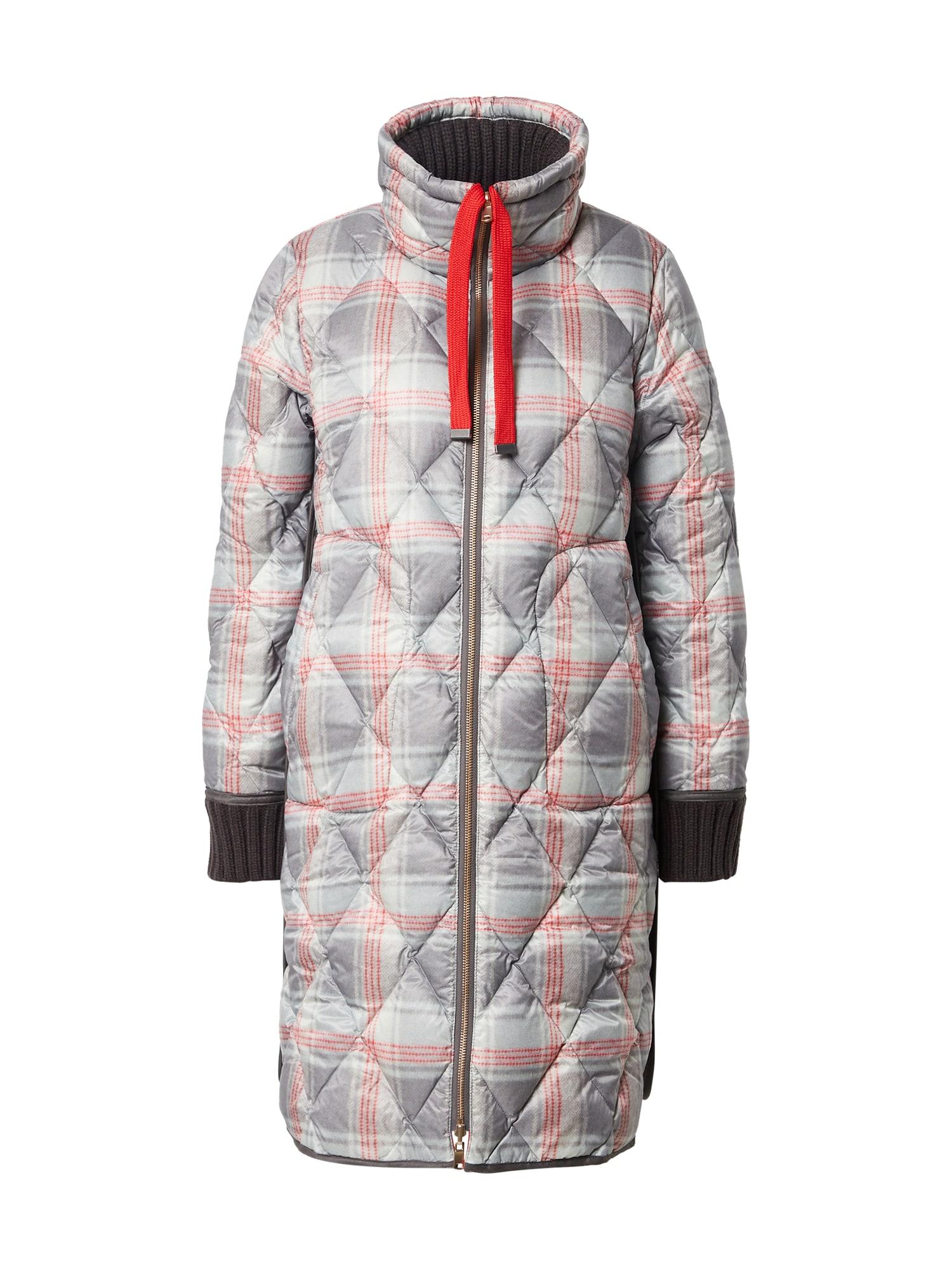 UNITED COLORS OF BENETTON Žieminis paltas pilka / oranžinė