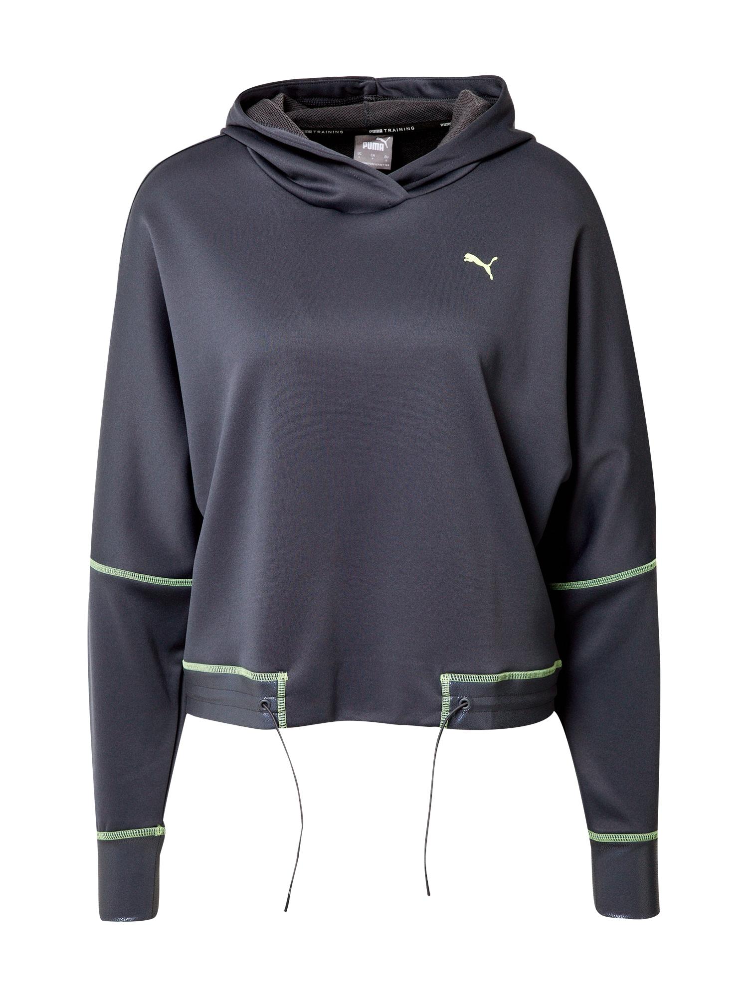 PUMA Sportovní mikina 'Winter Pearl Training Hoodie'  antracitová / zelená