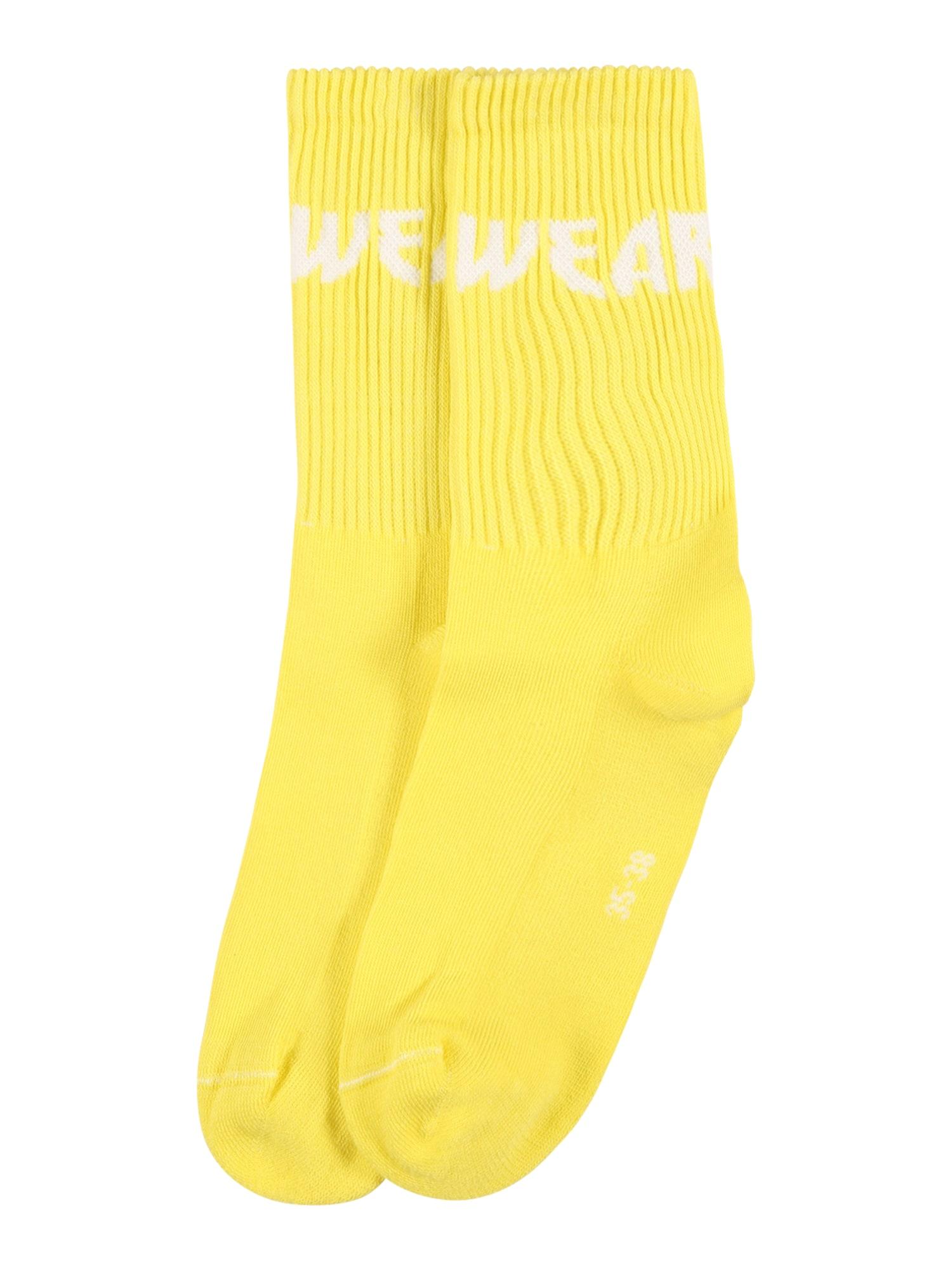 WEARKND Kojinės šviesiai geltona / balta