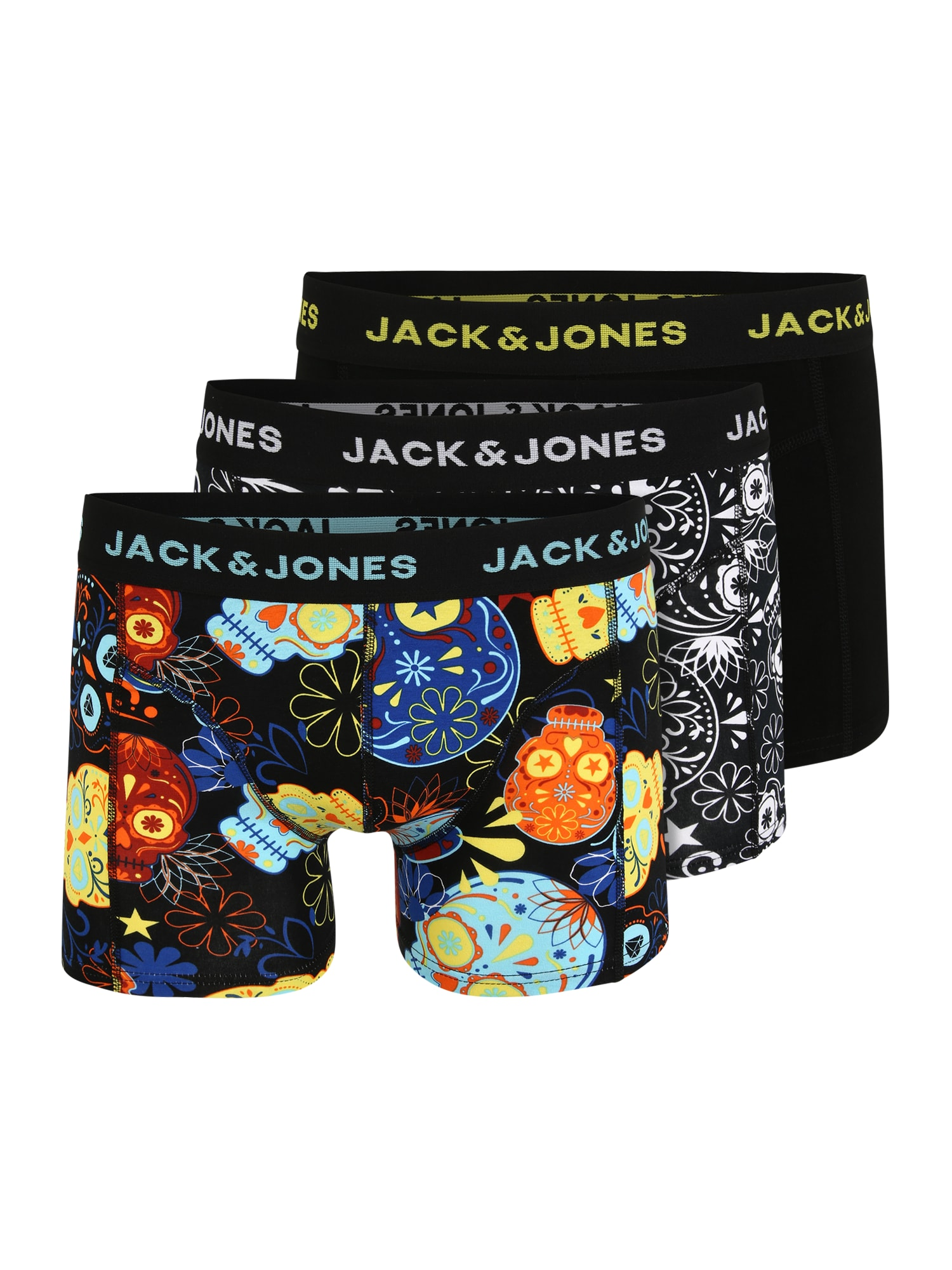 JACK & JONES Boxer trumpikės juoda / mišrios spalvos