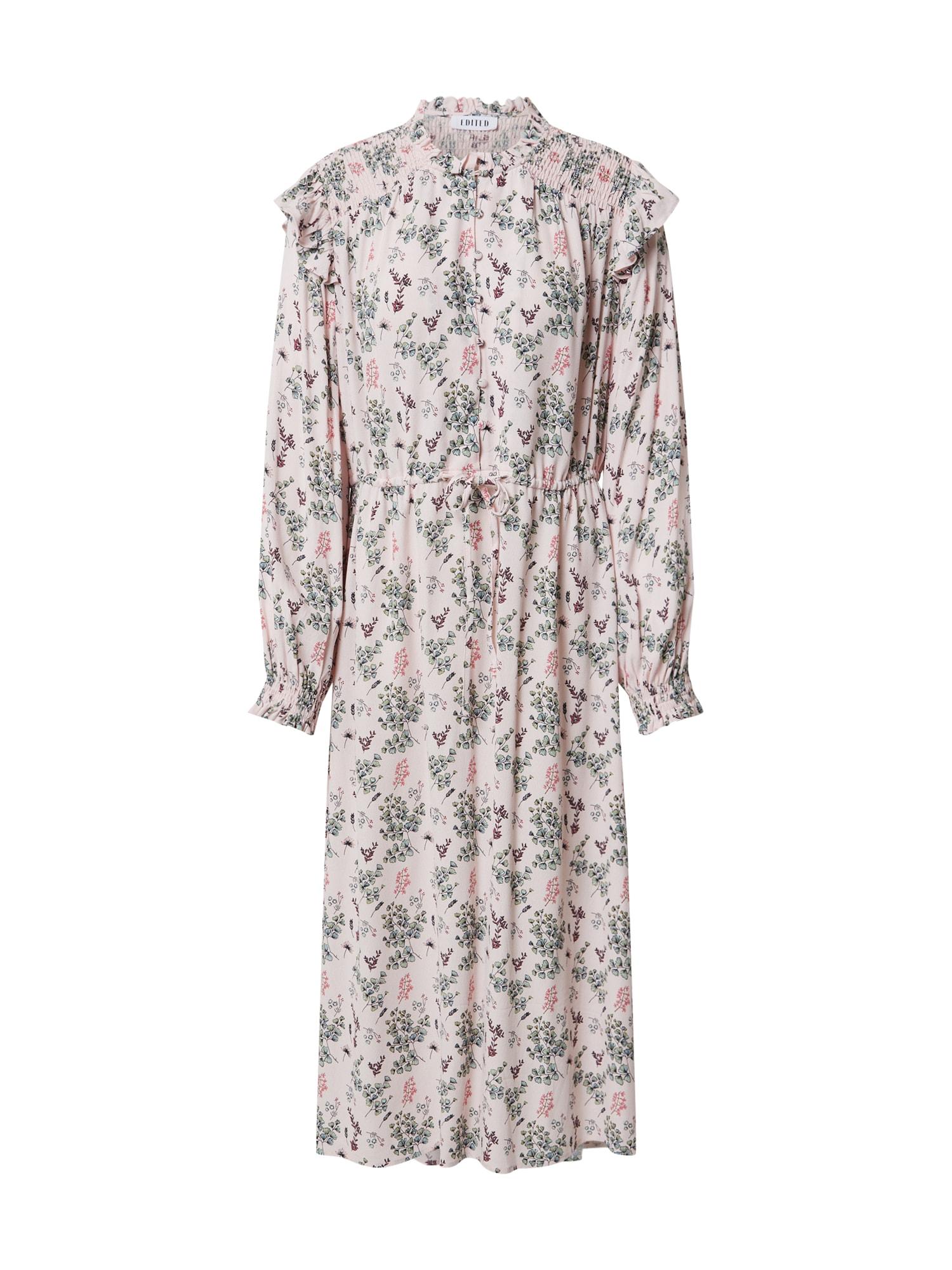 EDITED Palaidinės tipo suknelė 'Matthea ' šviesiai rožinė / žalia