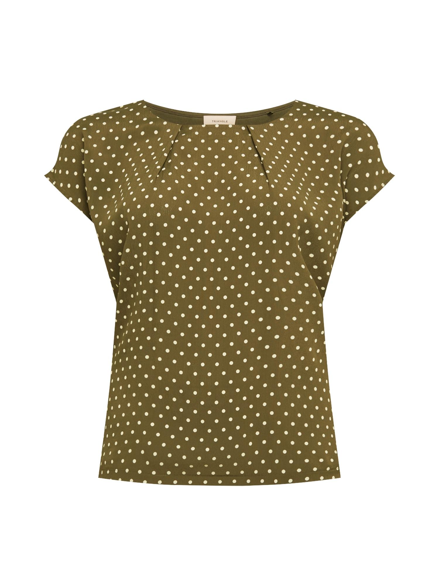 TRIANGLE Marškinėliai rusvai žalia / balta