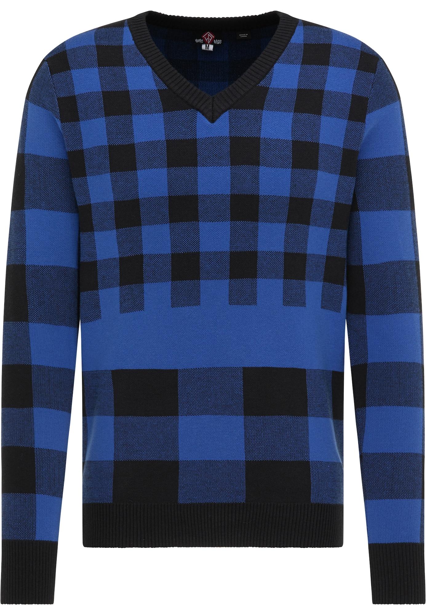 HOMEBASE Megztinis mėlyna / juoda