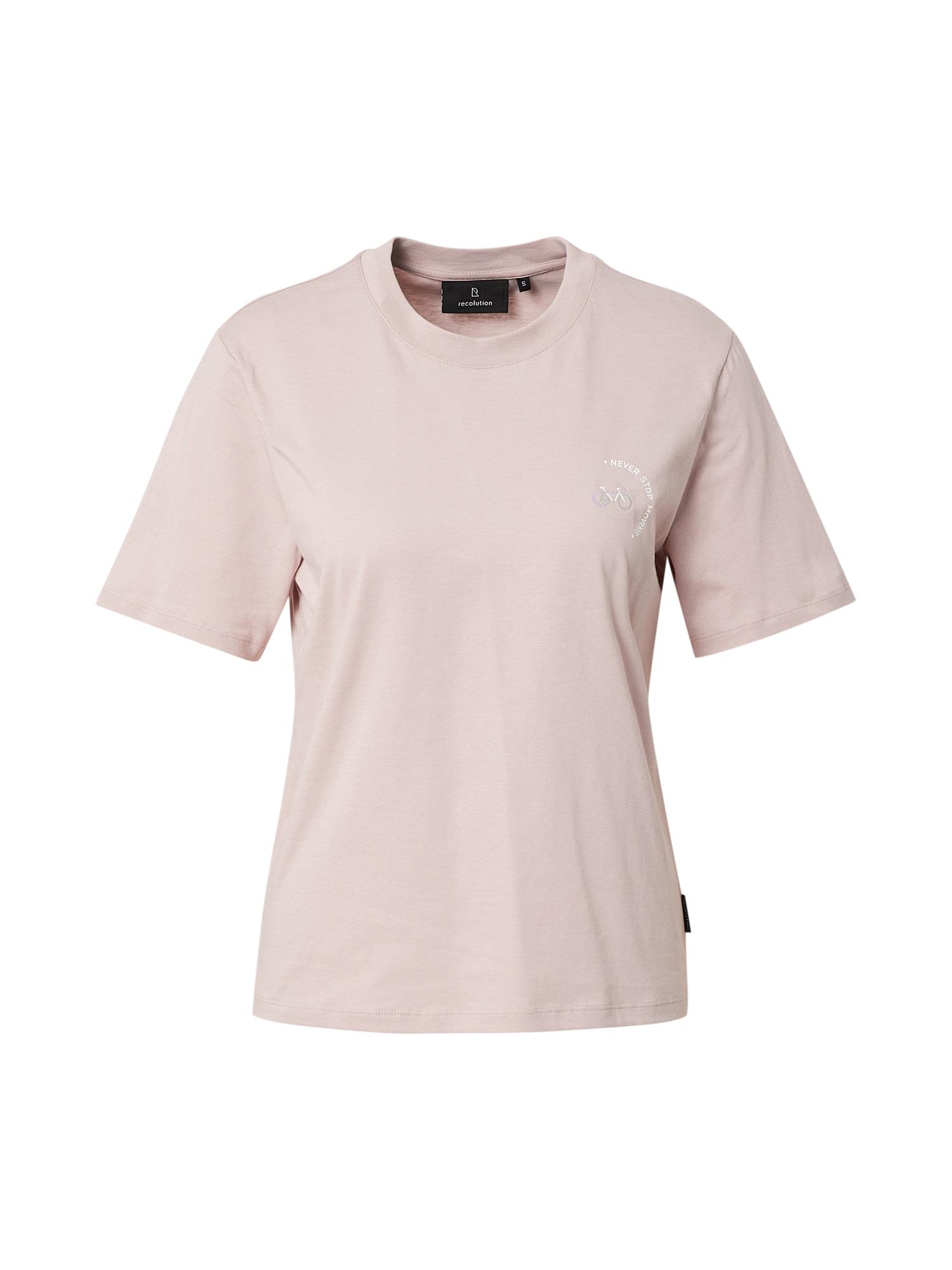recolution Tričko 'ALOCASIA #MIND'  pastelově růžová