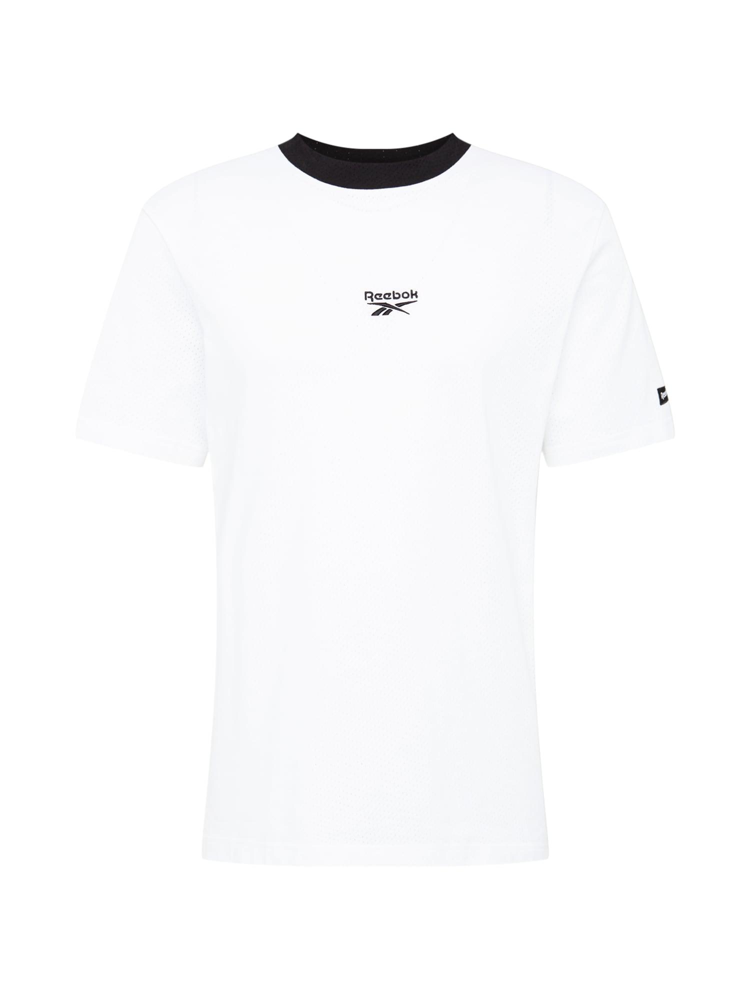 Reebok Classic Marškinėliai balta / juoda