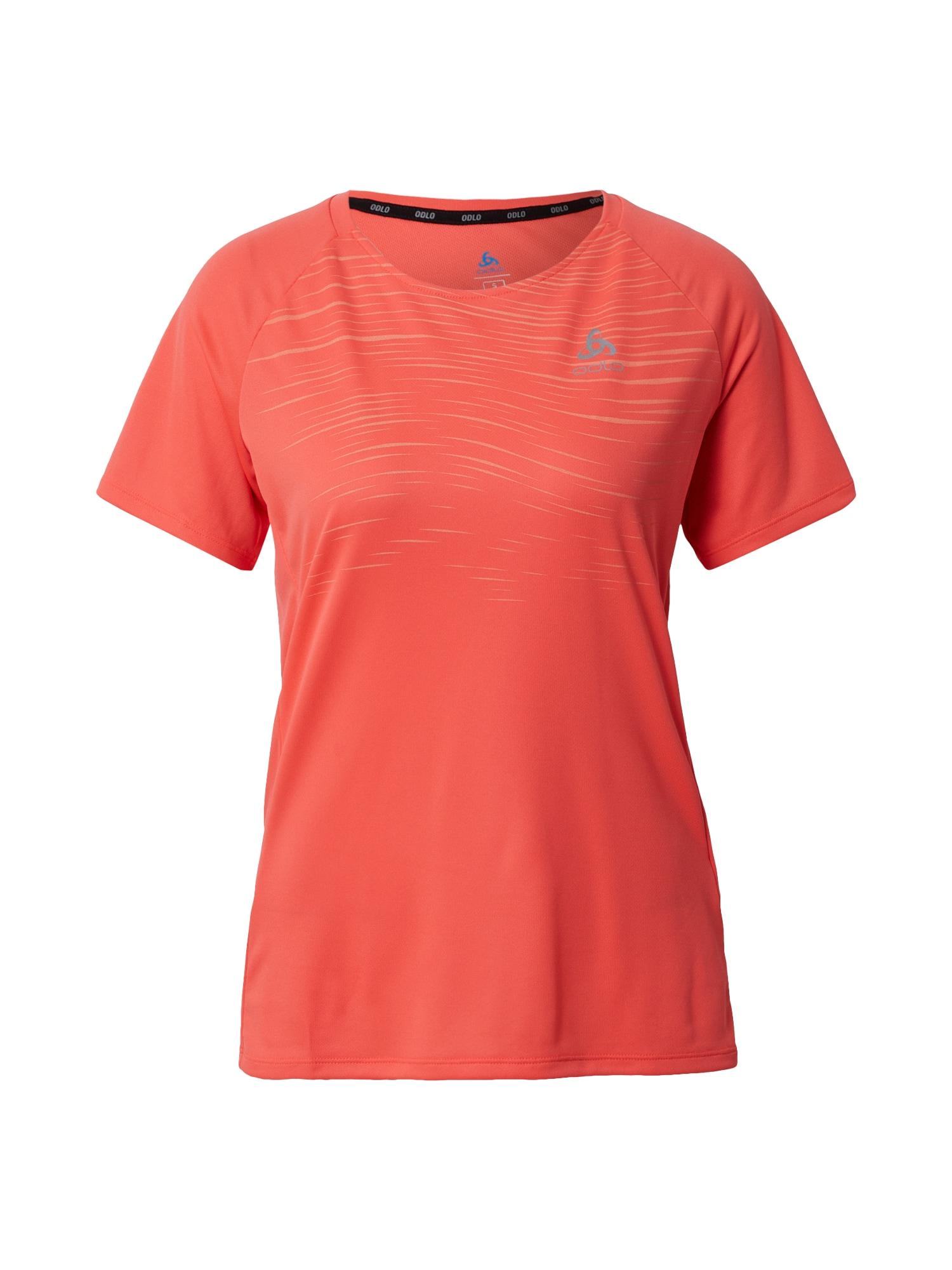 ODLO Sportiniai marškinėliai koralų splava / pastelinė oranžinė
