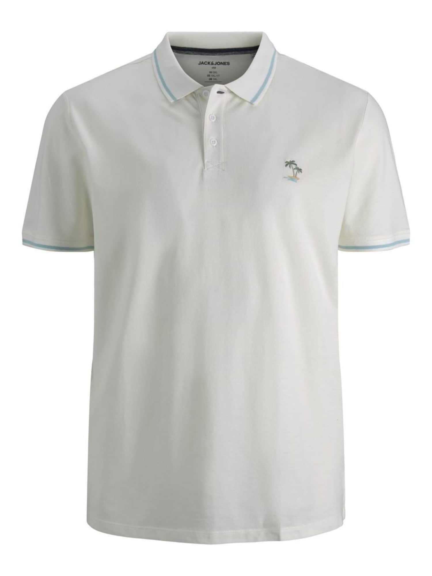 Jack & Jones Plus Marškinėliai šviesiai mėlyna / balta