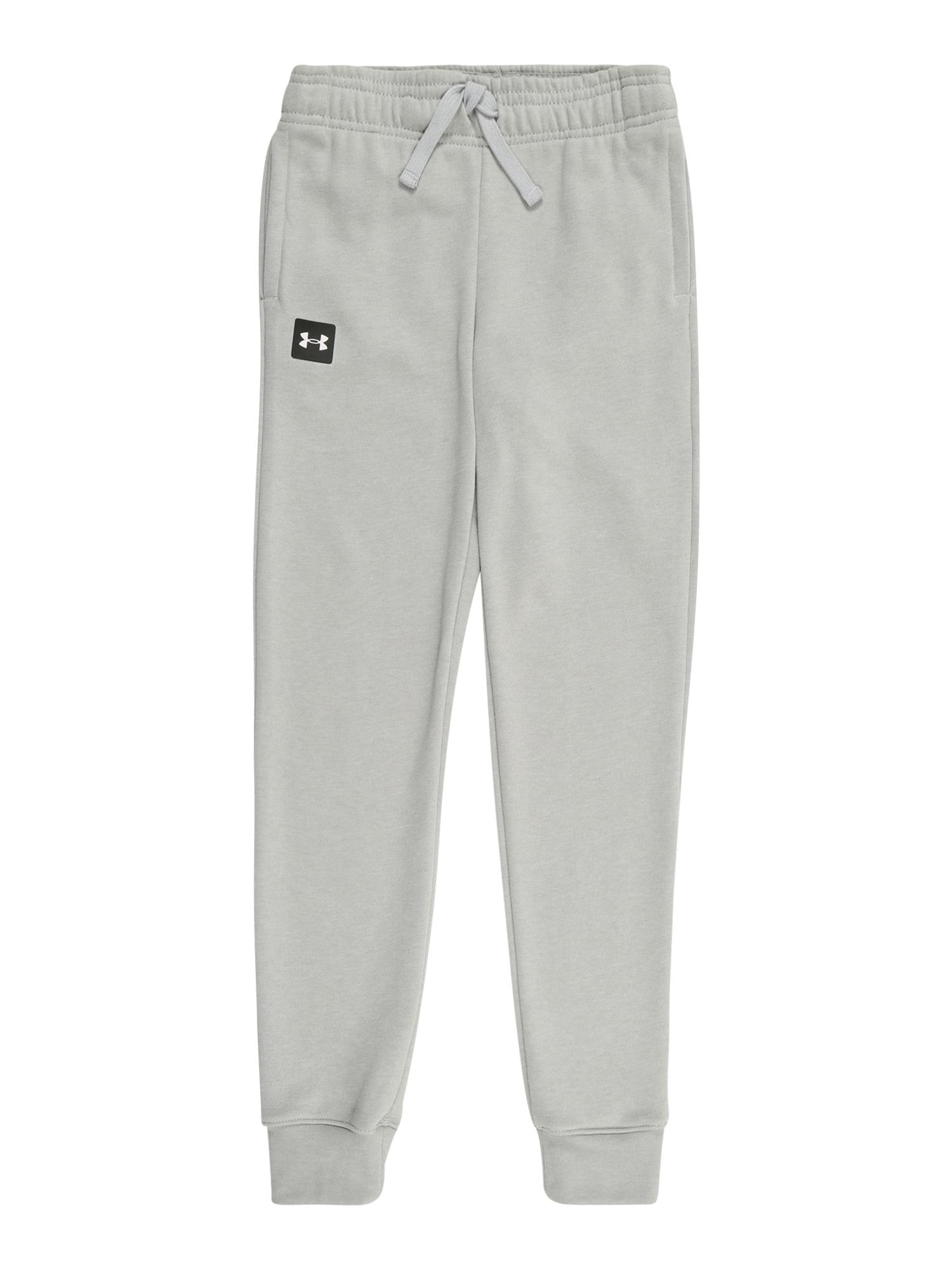 UNDER ARMOUR Sportovní kalhoty 'RIVAL'  světle šedá / černá