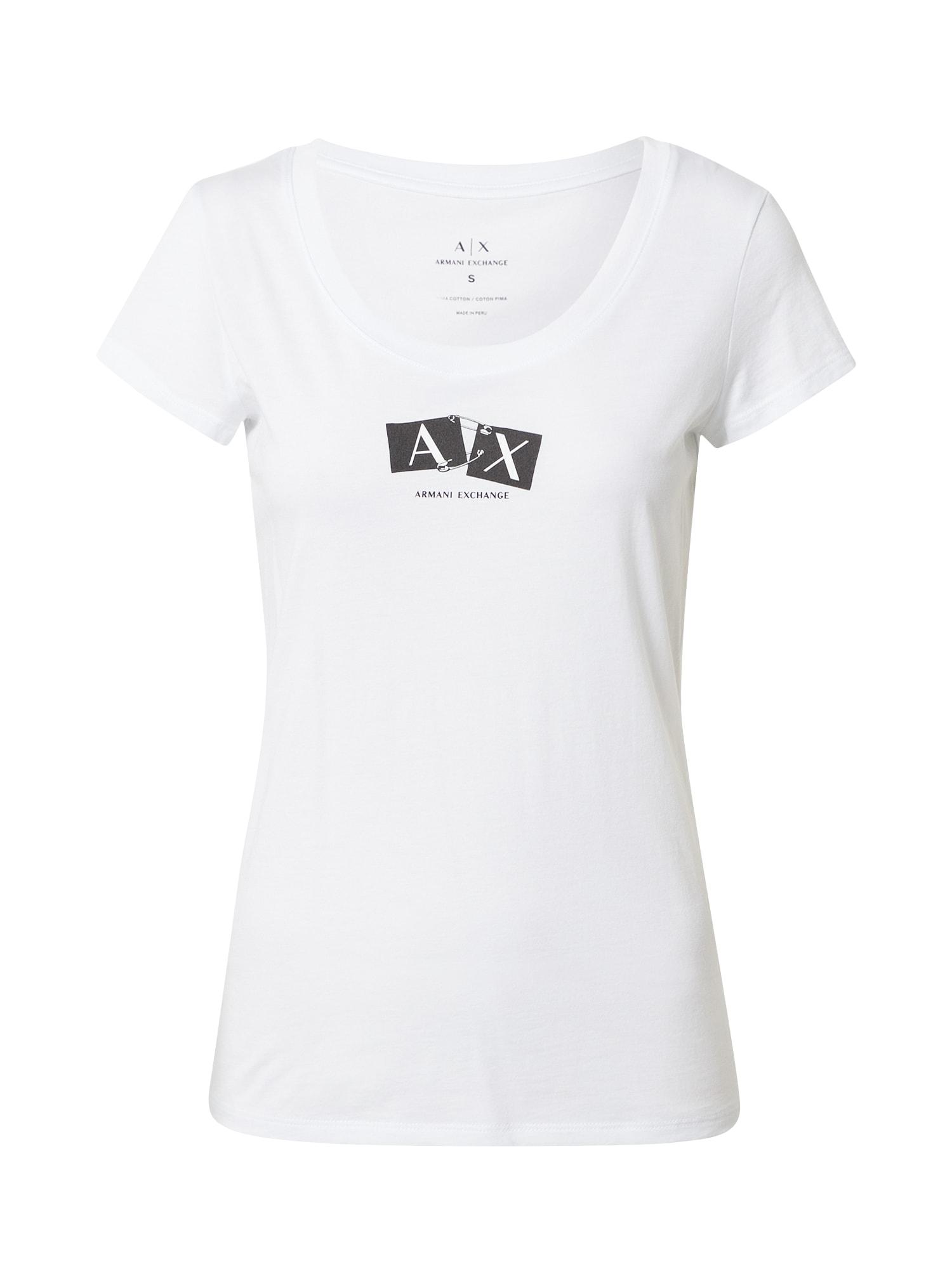 ARMANI EXCHANGE Marškinėliai balta