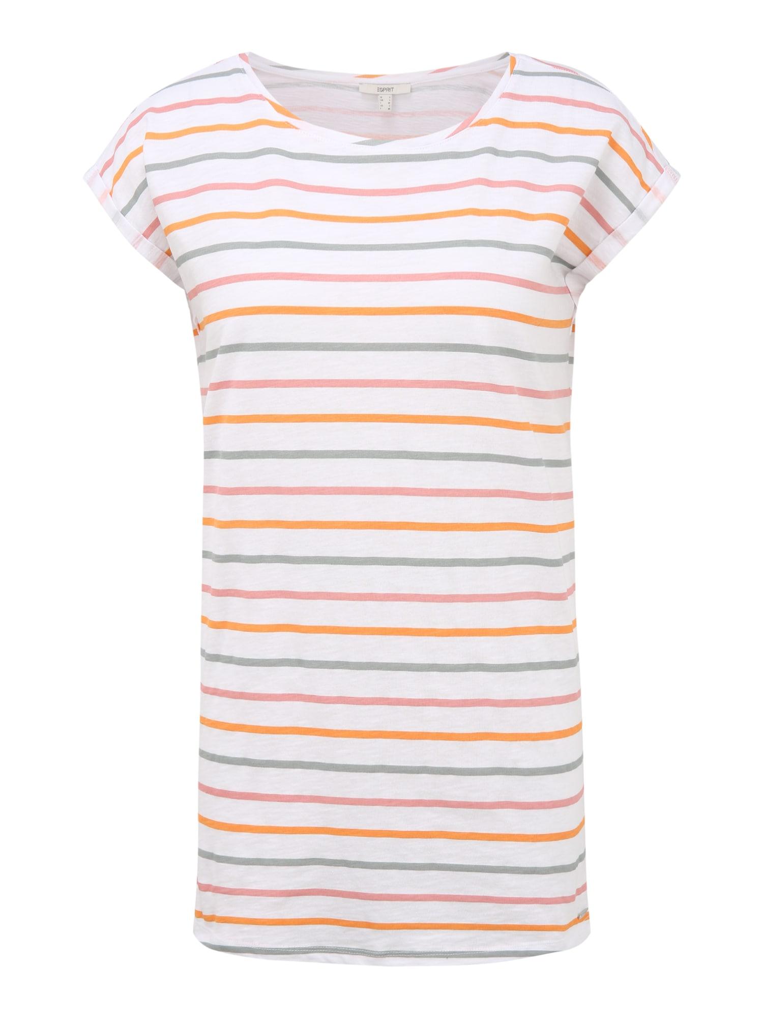 Esprit Maternity Marškinėliai balta / rožių spalva / melsvai pilka / šviesiai raudona