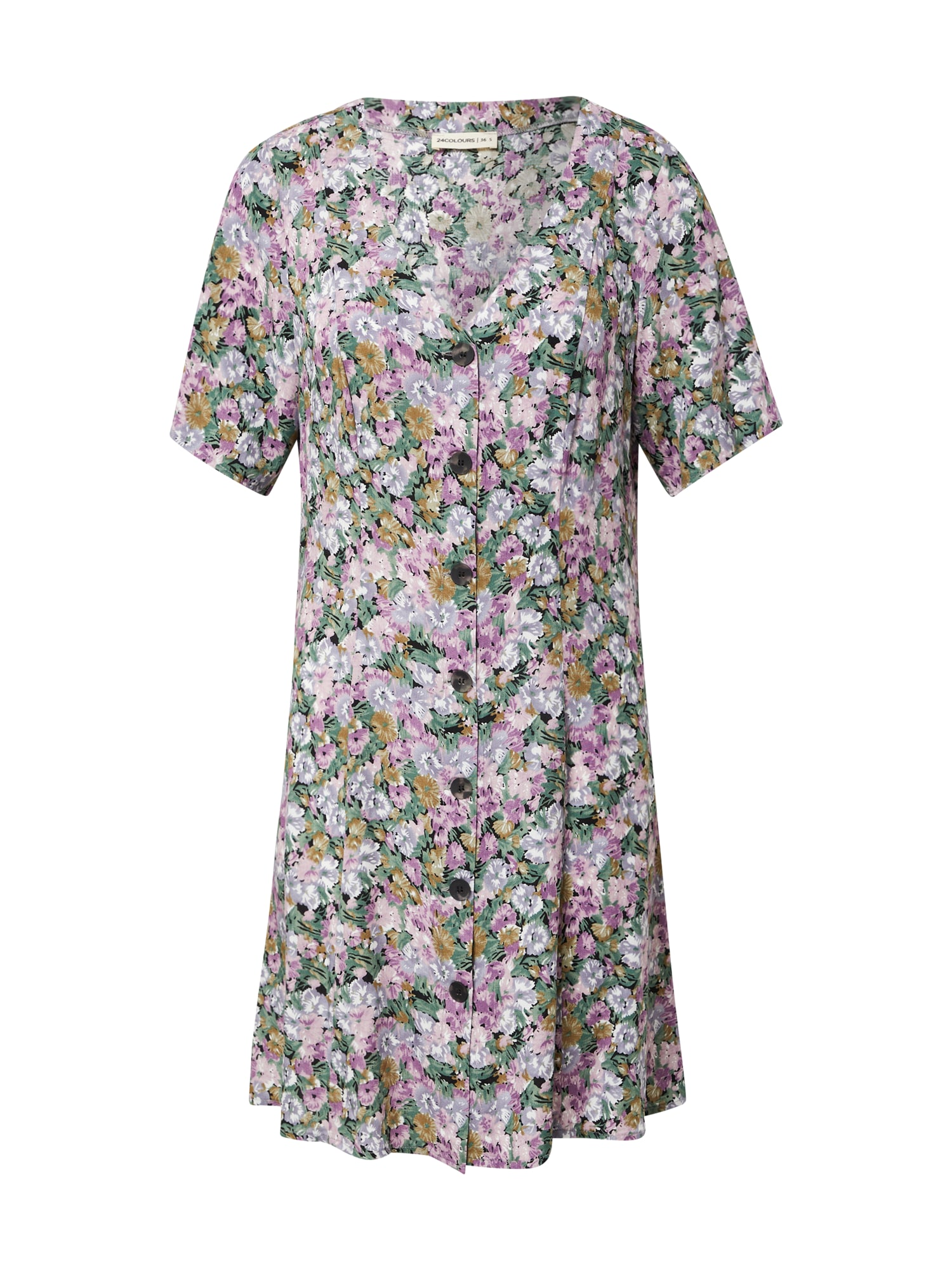 24COLOURS Palaidinės tipo suknelė purpurinė / žalia / ruda