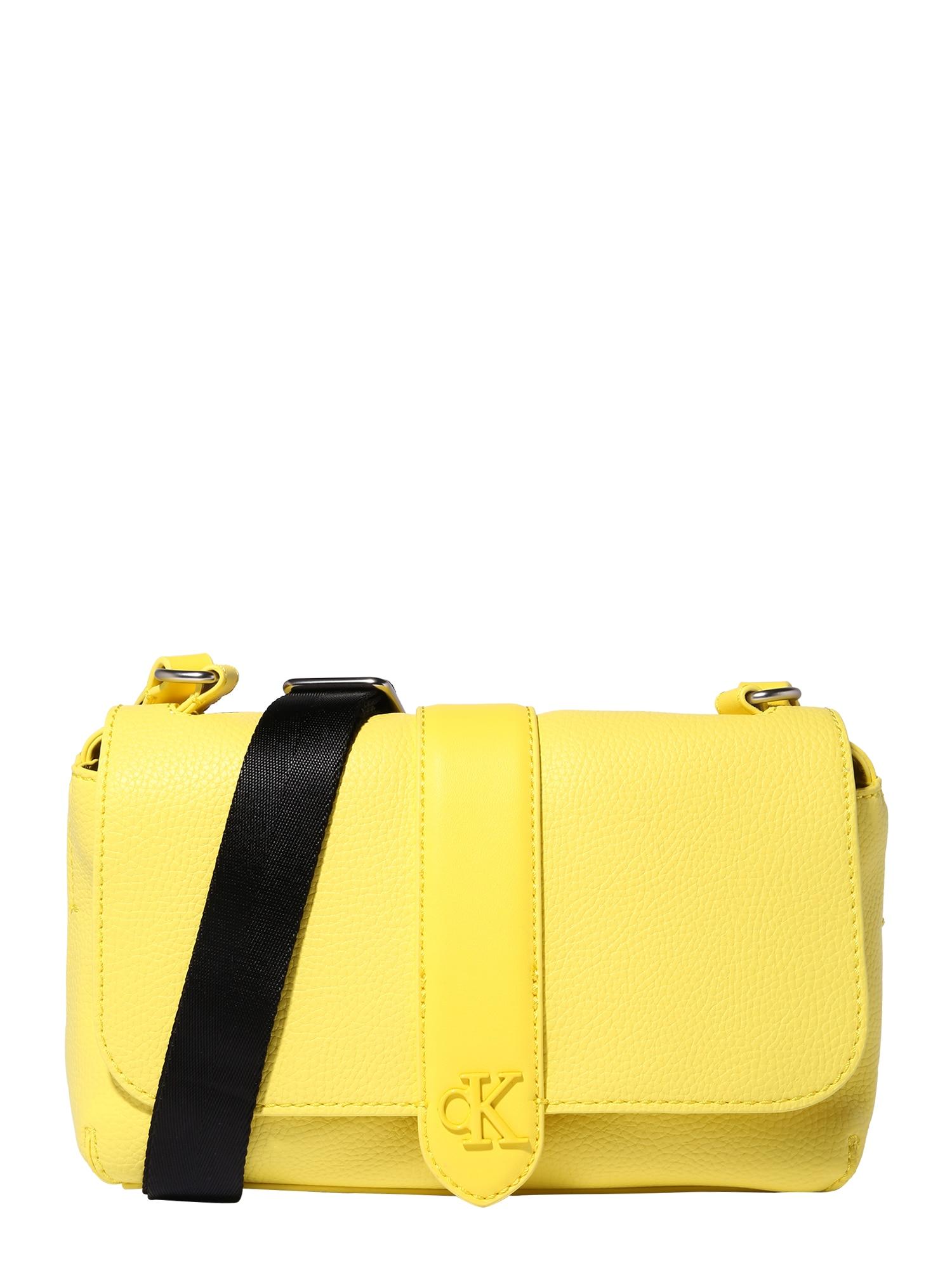 Calvin Klein Jeans Rankinė su ilgu dirželiu geltona