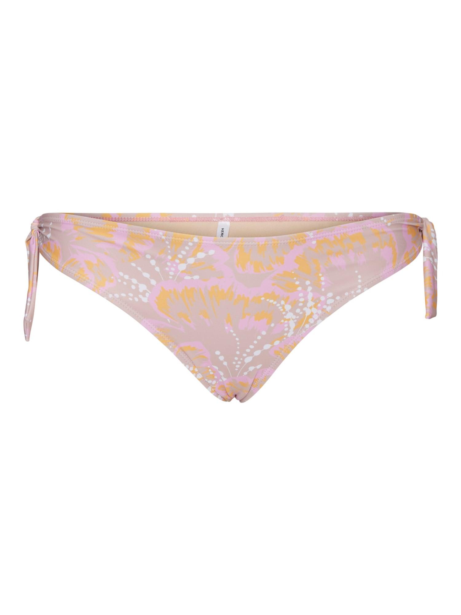 Vero Moda Curve Spodní díl plavek 'Leur'  růže / bílá / šeříková / oranžová