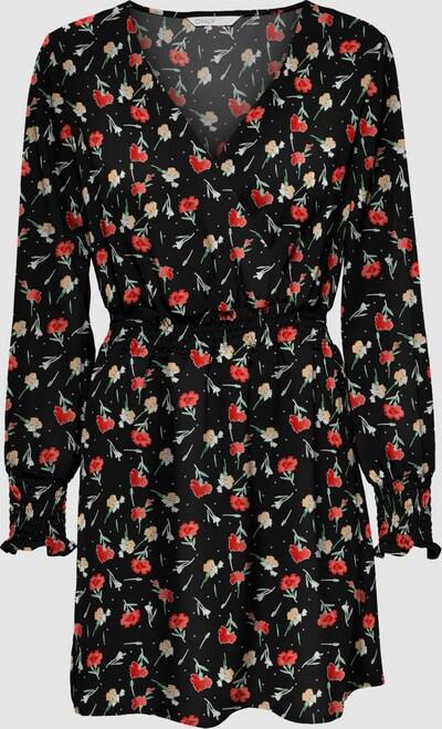 Only Nova Life Langarm-Mini-Smockkleid mit V-Ausschnitt und Blumenmuster