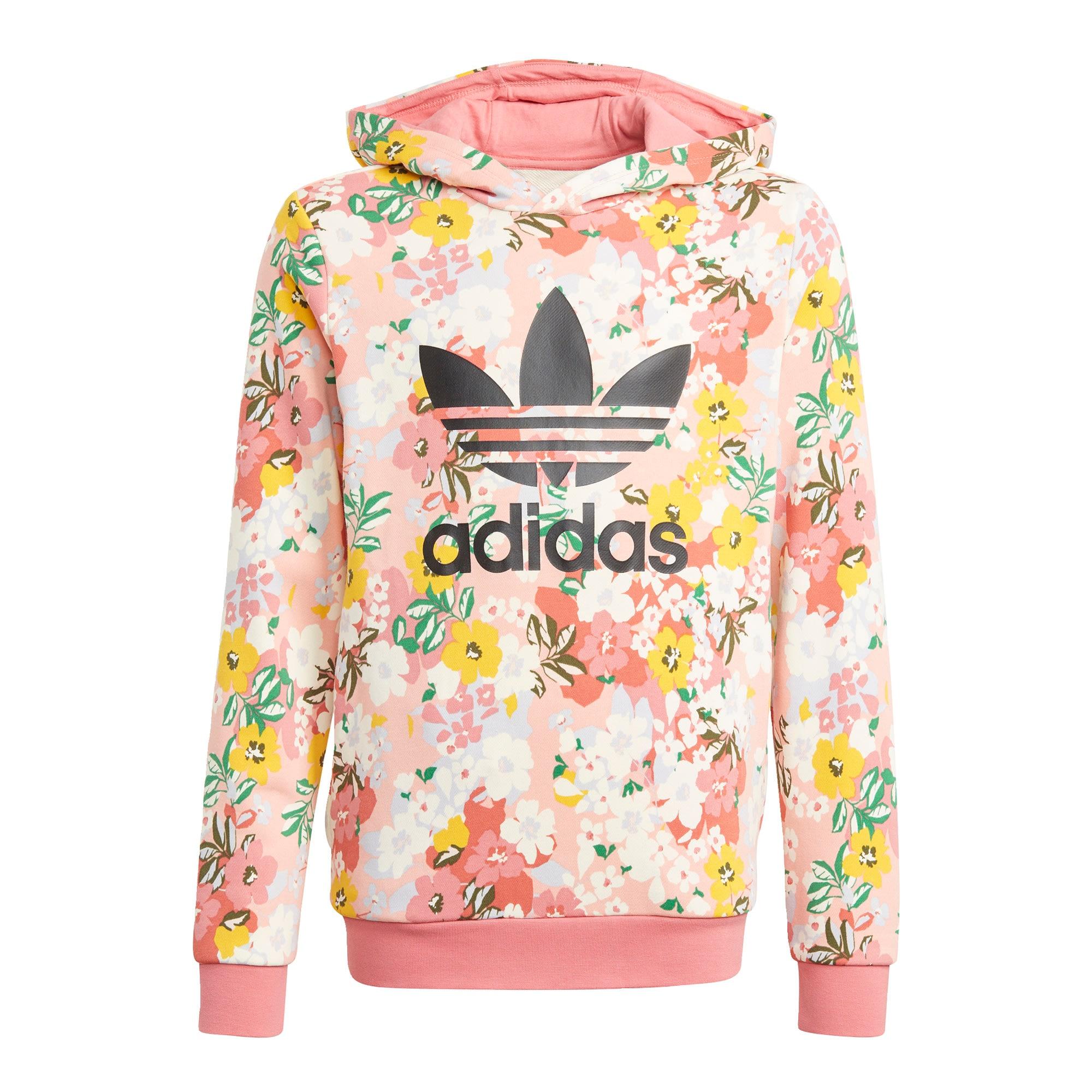 ADIDAS ORIGINALS Megztinis be užsegimo rožių spalva / rožinė / balta / juoda / žaliosios citrinos spalva