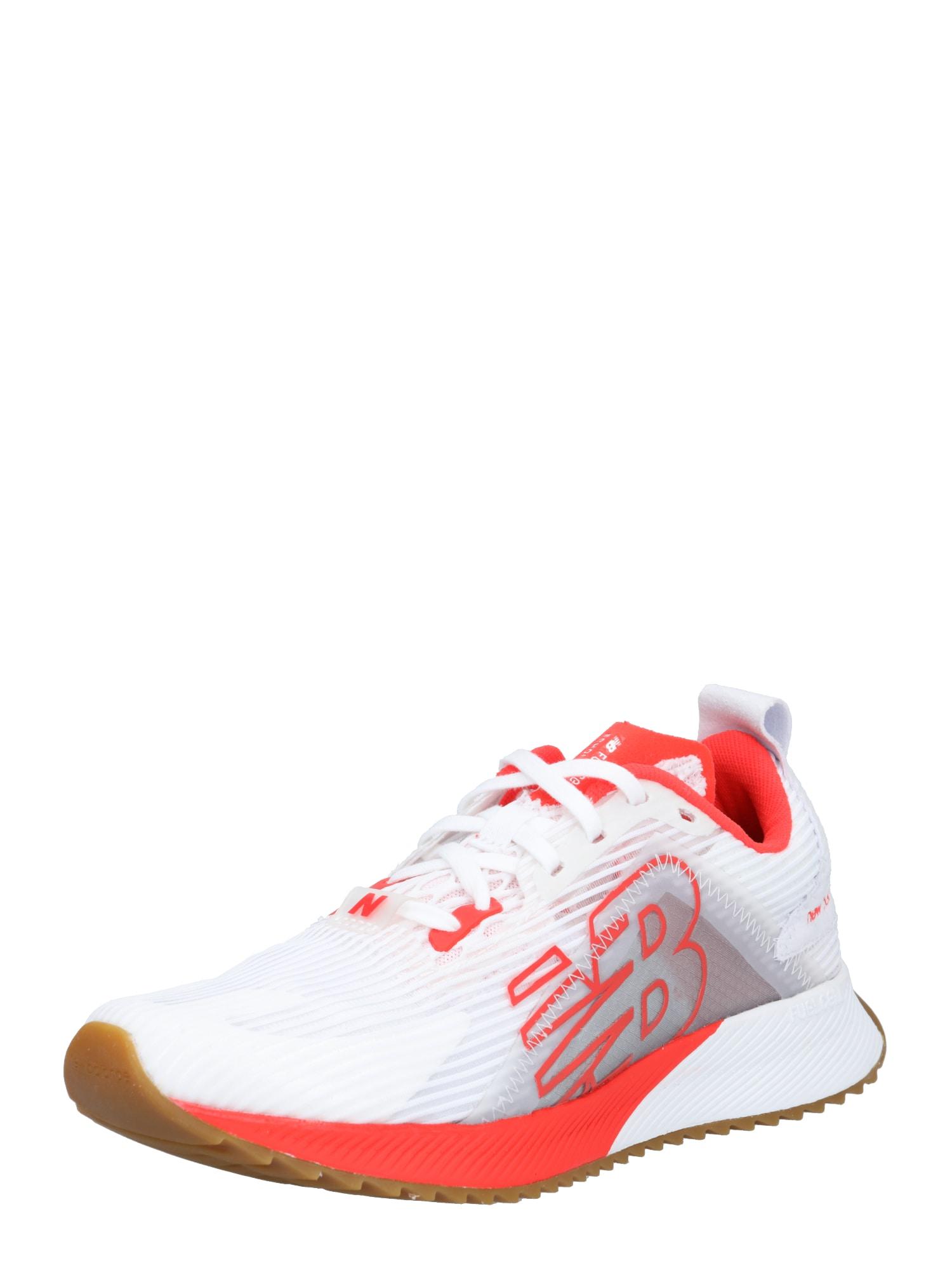 new balance Bėgimo batai balta / šviesiai raudona