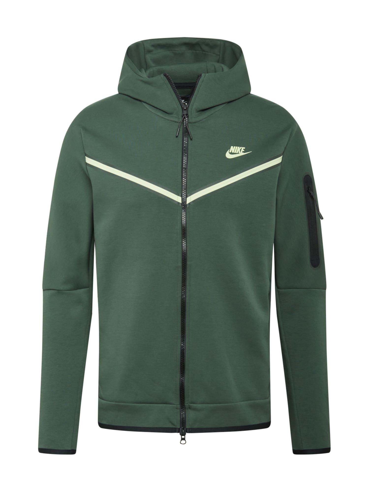 Nike Sportswear Džemperis tamsiai žalia / balta