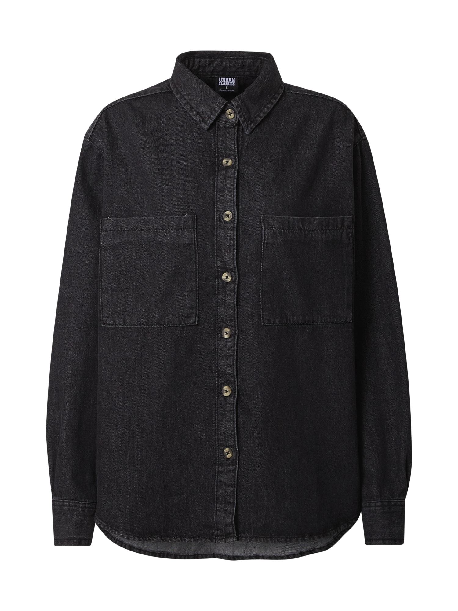 Urban Classics Palaidinė juodo džinso spalva