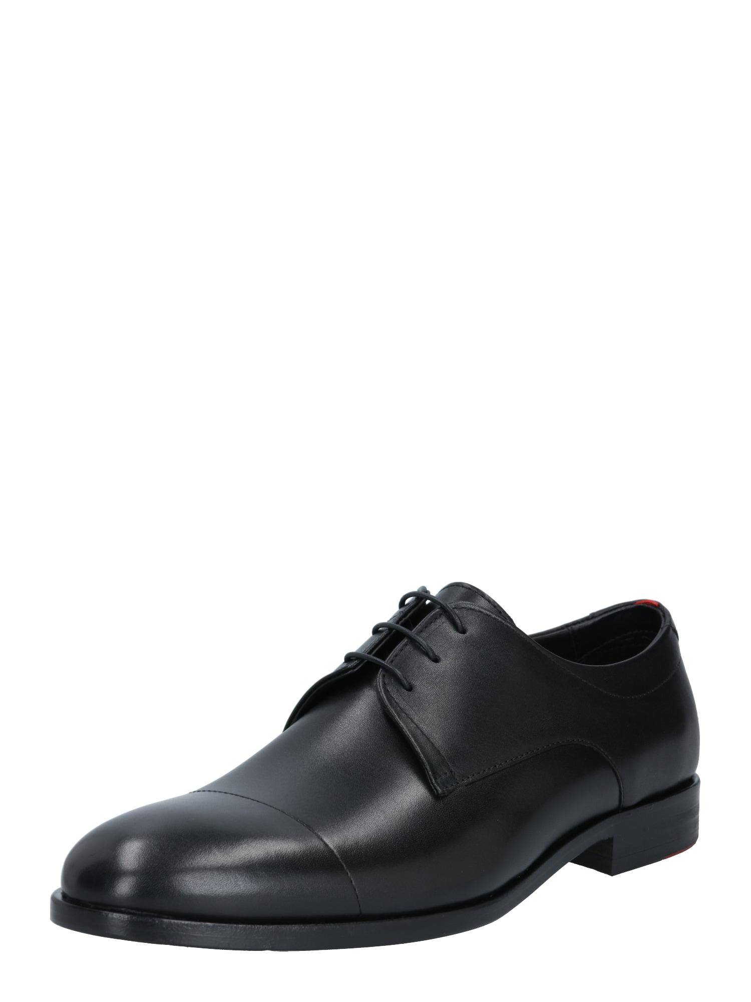 HUGO Šněrovací boty 'Midtown'  černá