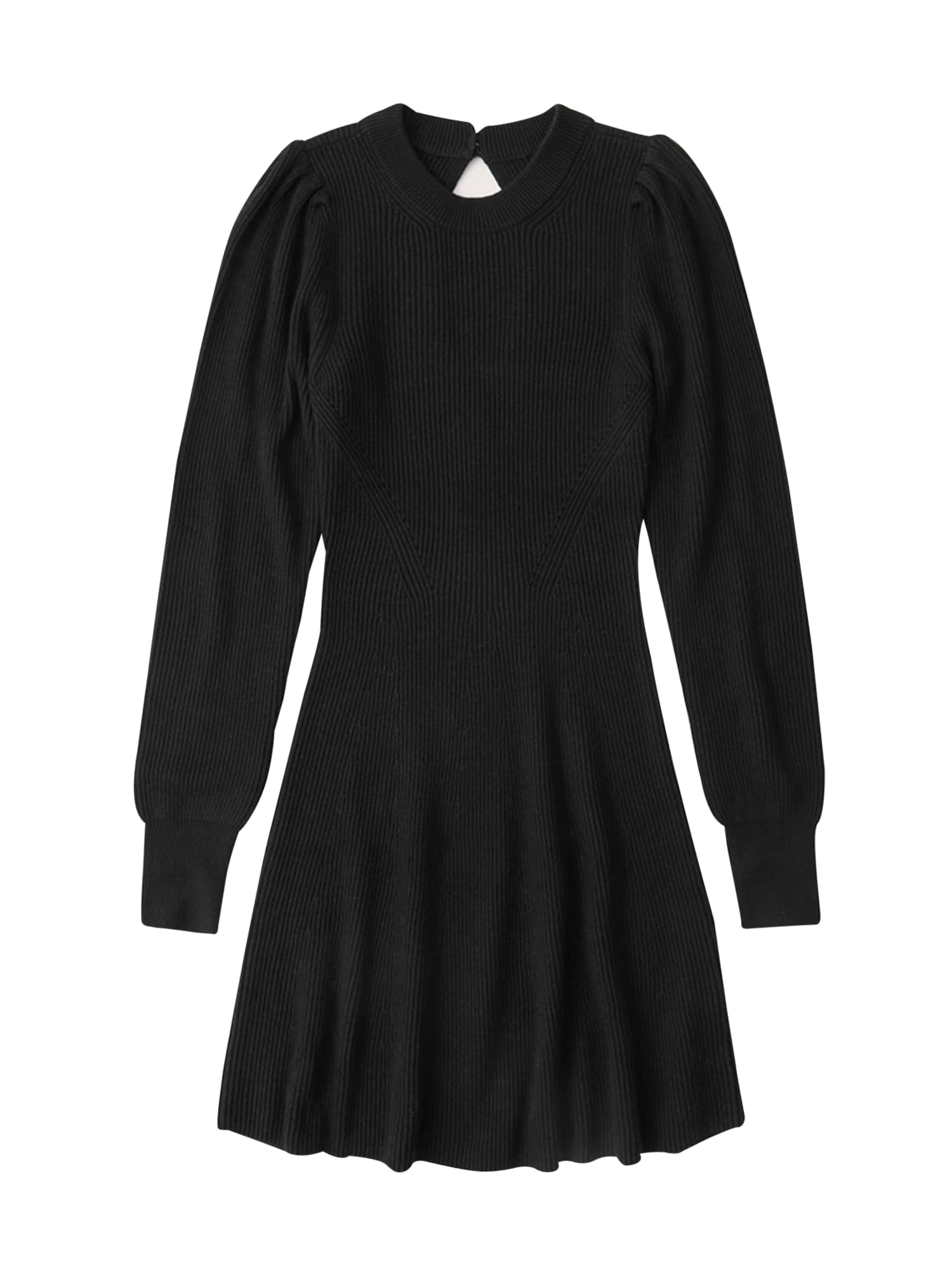 Abercrombie & Fitch Megzta suknelė juoda