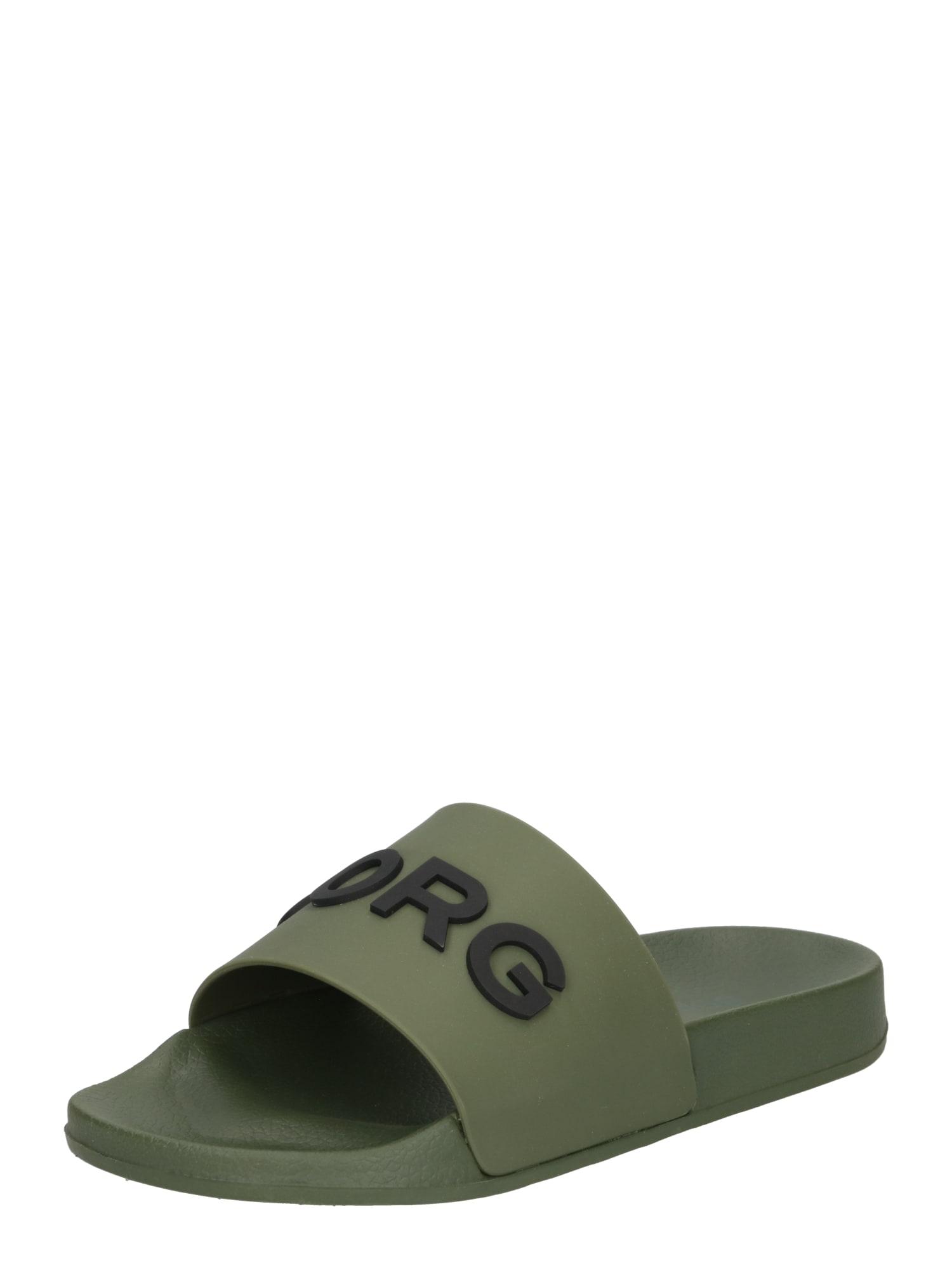 BJÖRN BORG Atviri batai rusvai žalia