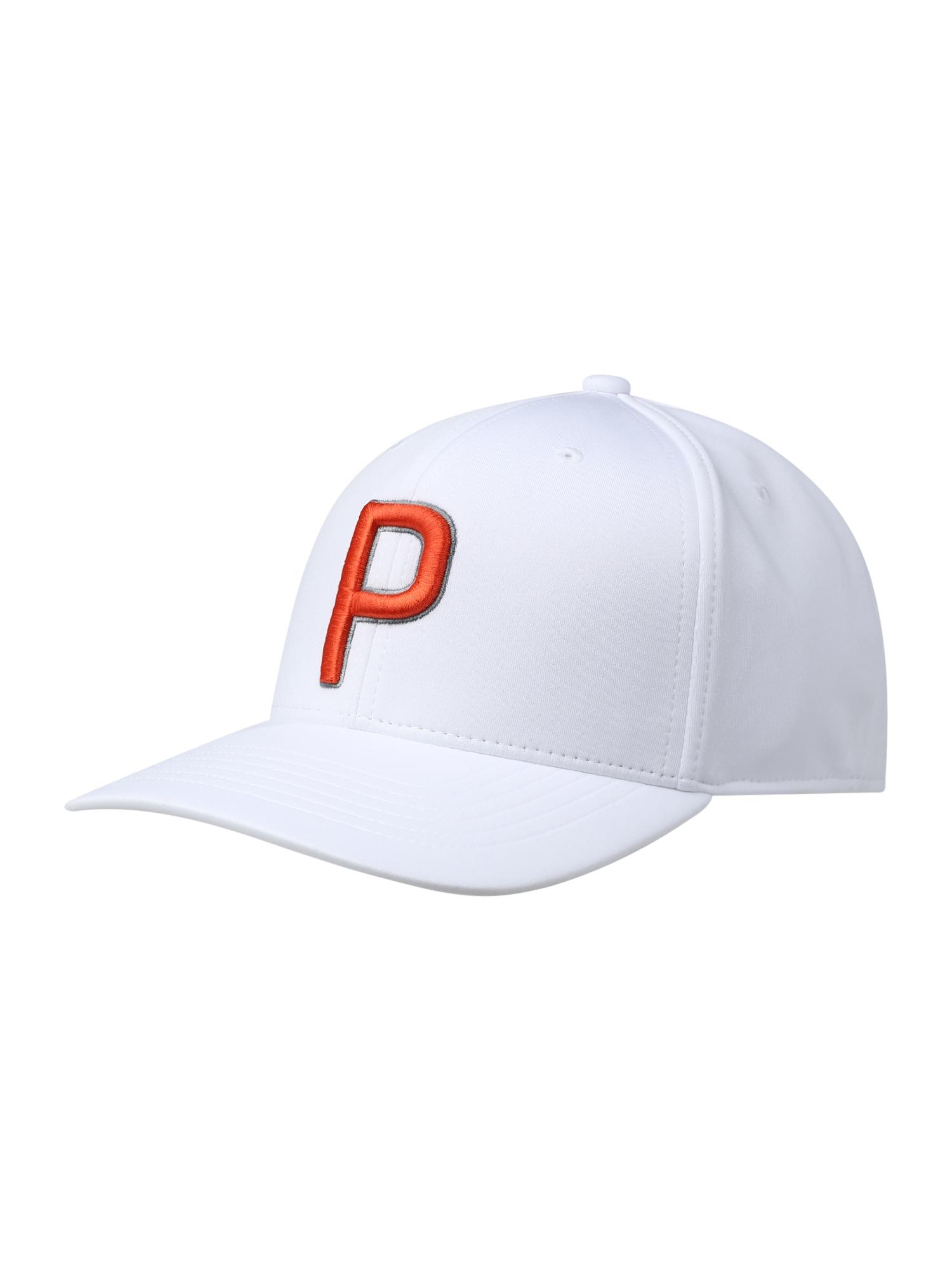 PUMA Sportinė kepurė oranžinė / balta