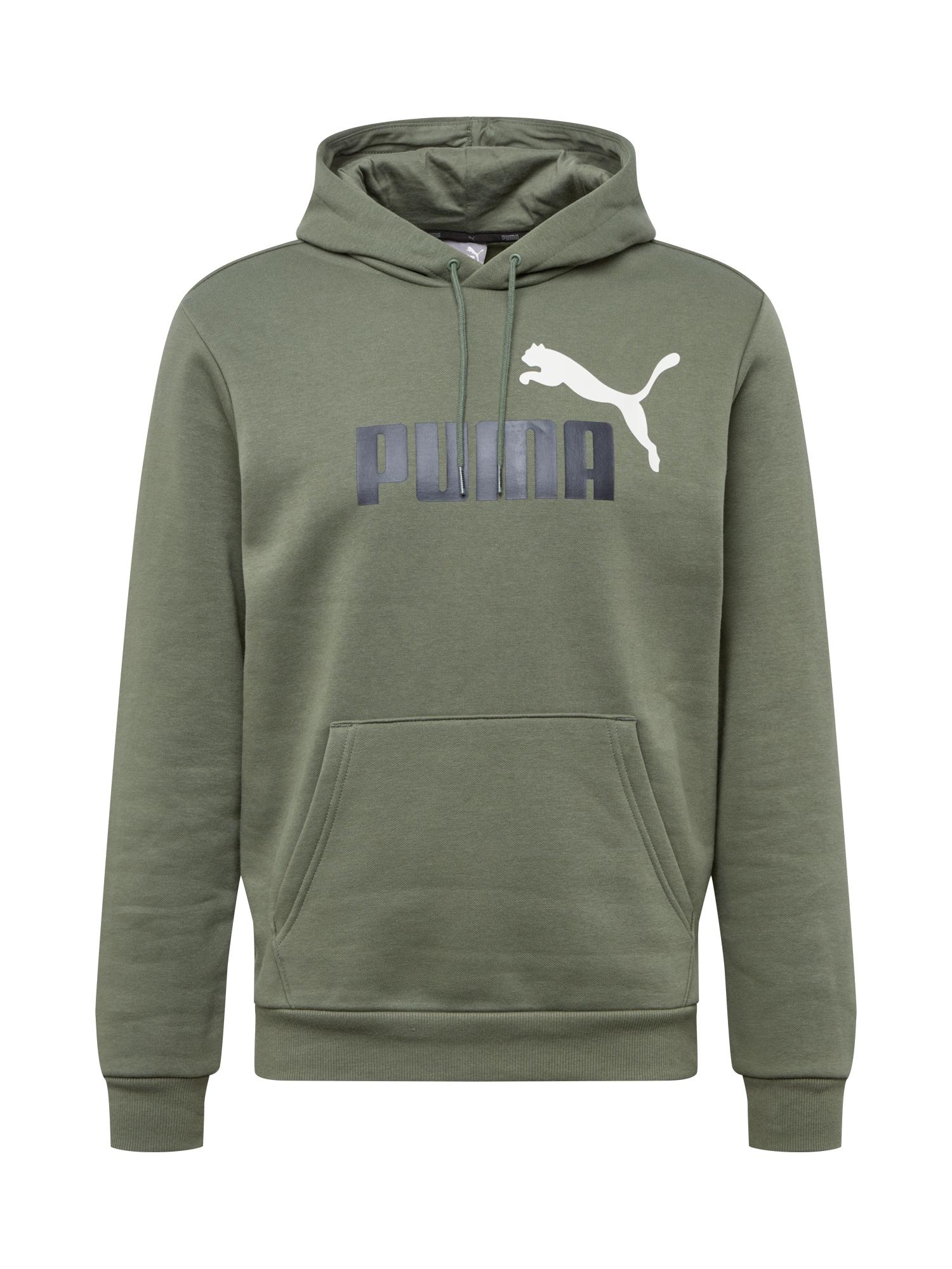 PUMA Sportinio tipo megztinis žalia / juoda / balta