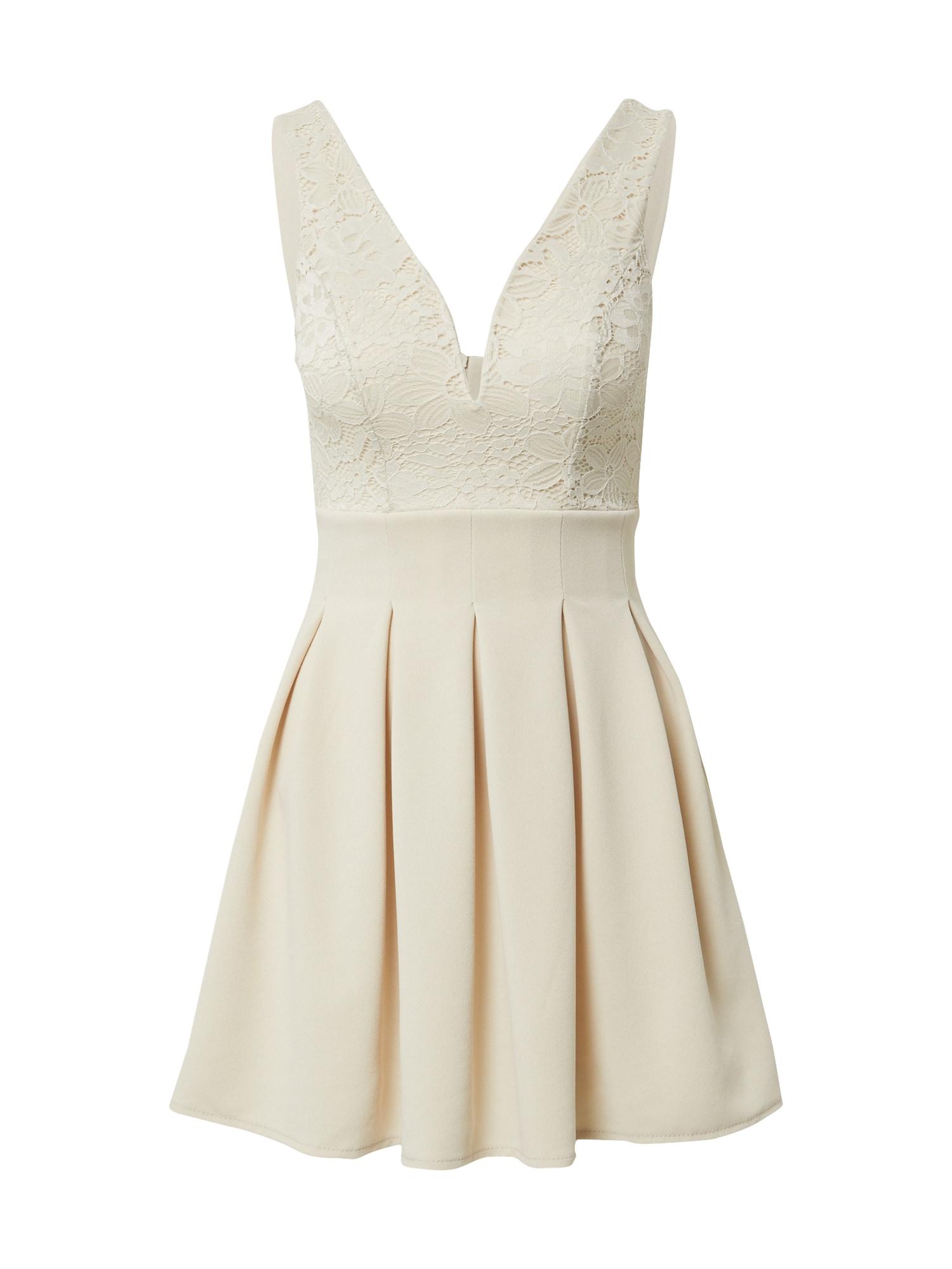 WAL G. Kokteilinė suknelė smėlio spalva
