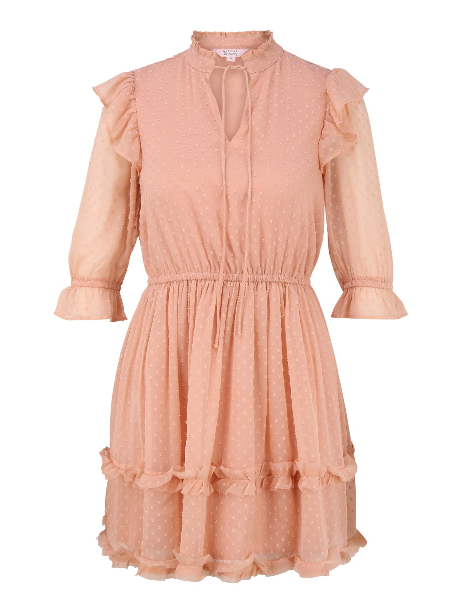 Miss Selfridge (Petite) Šaty 'DOBBY'  světle růžová