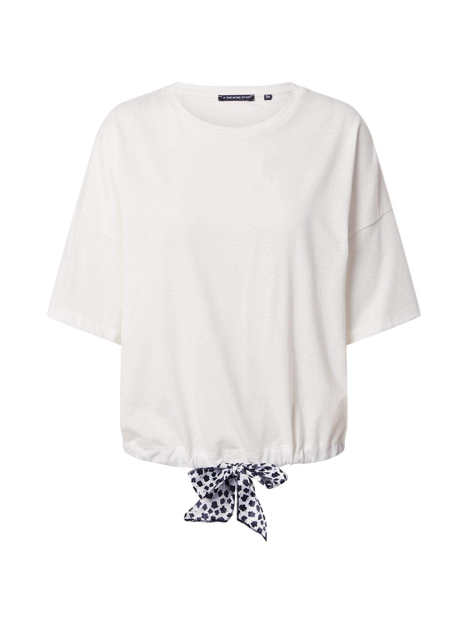 ONE MORE STORY Marškinėliai balta / tamsiai mėlyna