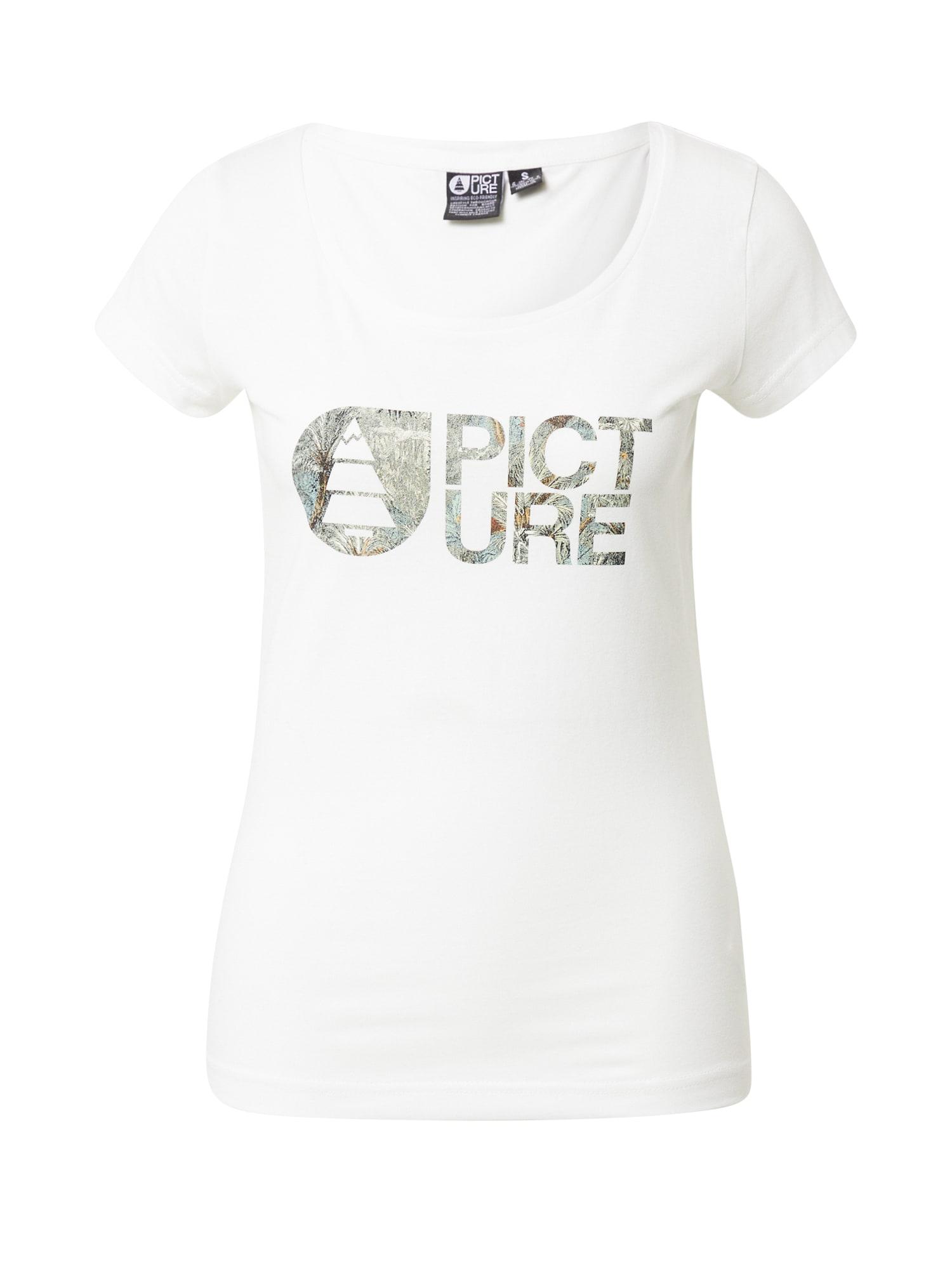 Picture Organic Clothing Sportiniai marškinėliai balta / pilka