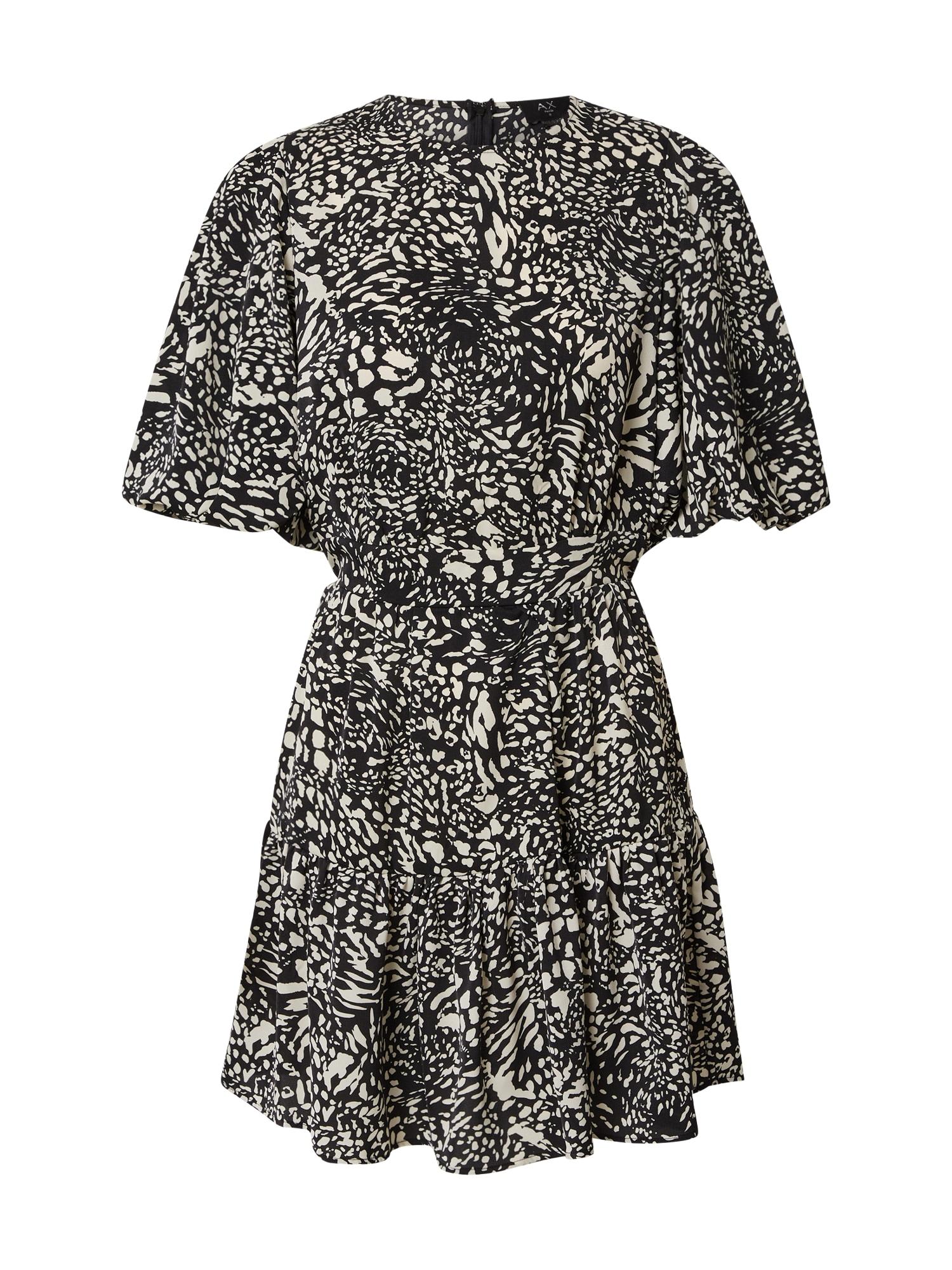AX Paris Suknelė juoda / balta